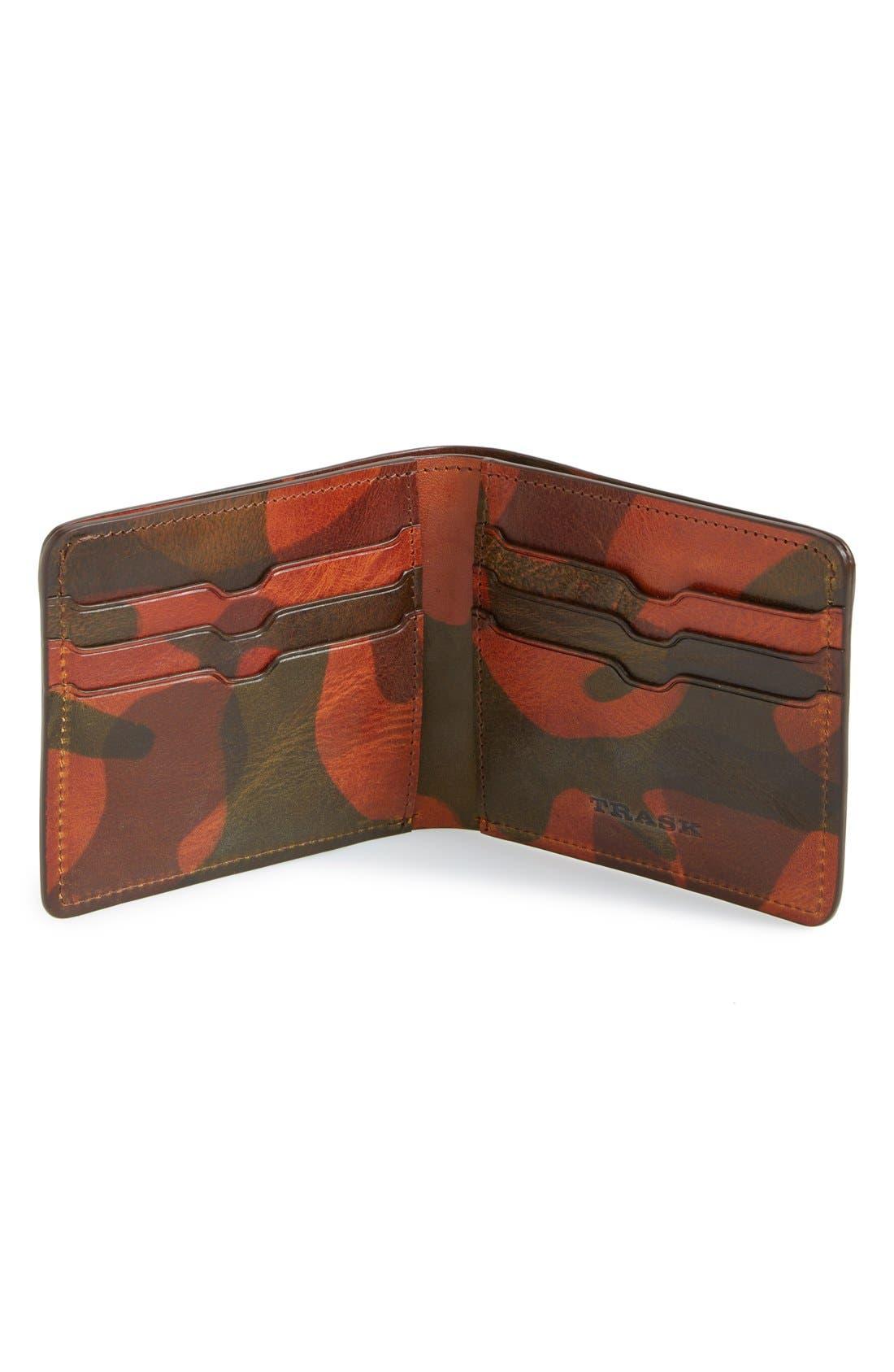 'Jackson' Bison Leather Wallet,                             Alternate thumbnail 9, color,