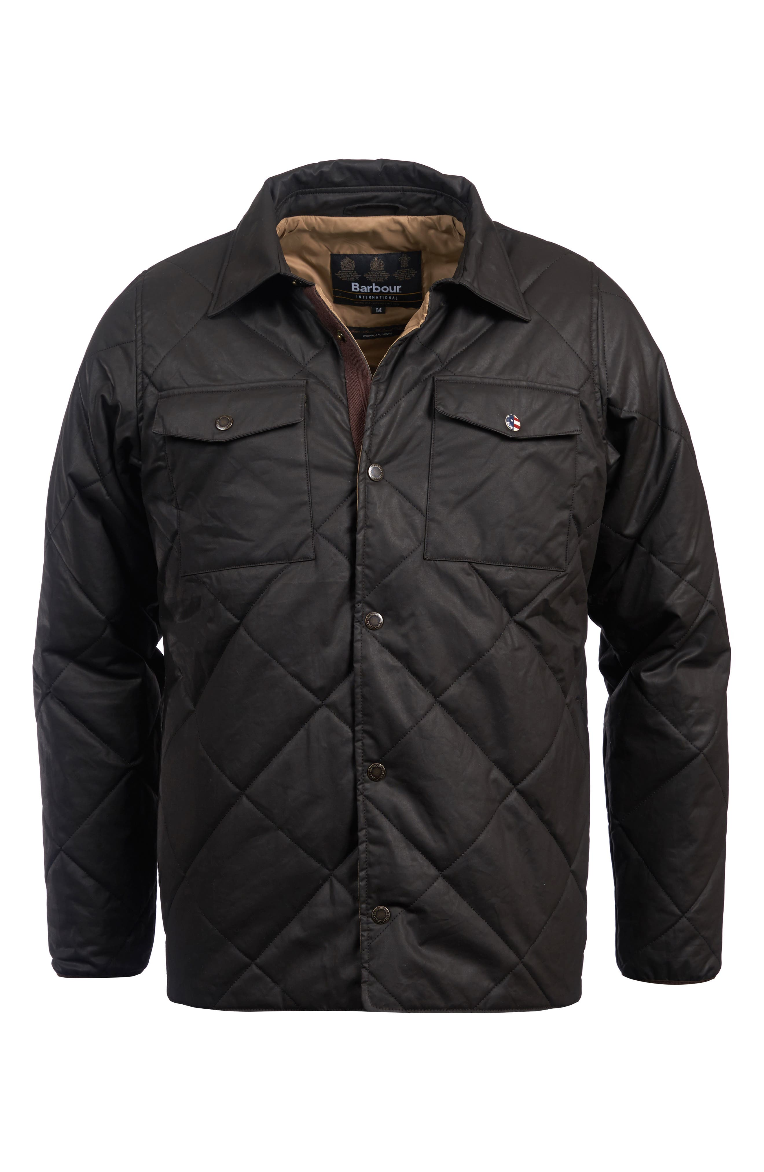 International Sonoran Quilted Shirt Jacket,                             Alternate thumbnail 4, color,                             BROWN