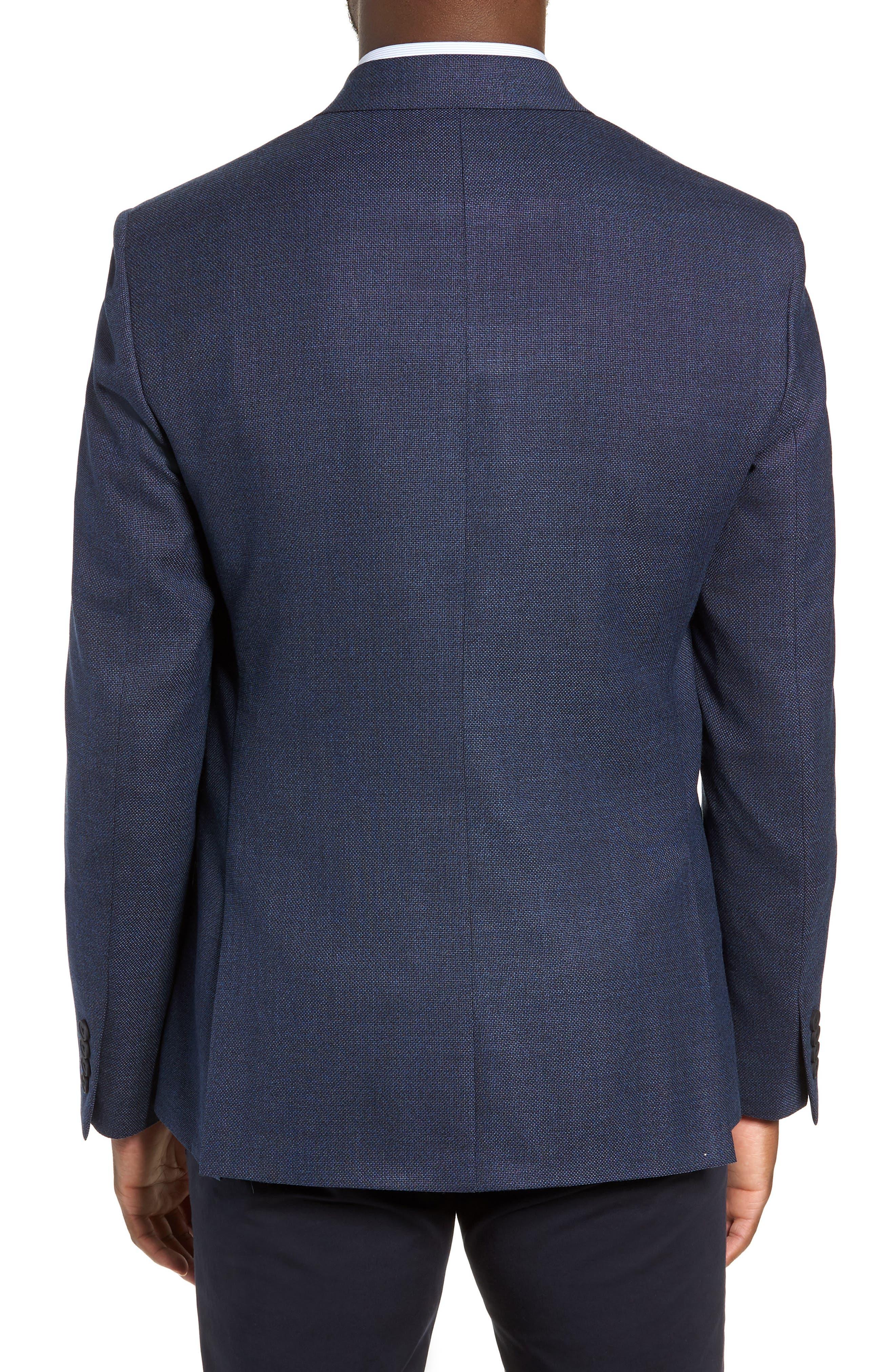 Trim Fit Crosshatched Wool Sport Coat,                             Alternate thumbnail 2, color,                             415