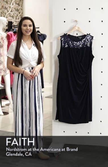 Sequin Yoke Sheath Dress, sales video thumbnail