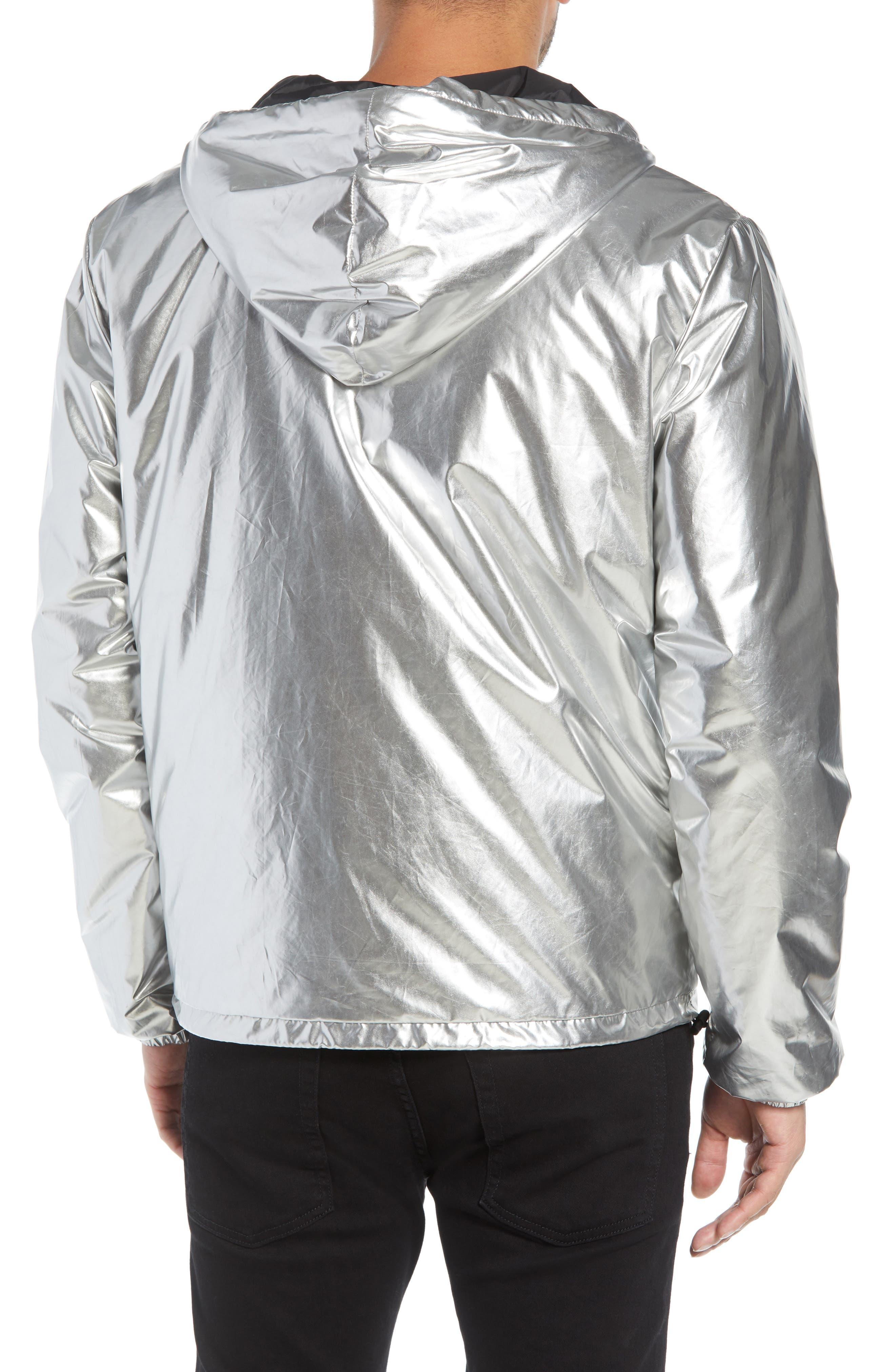 The Silver Metallic Windbreaker,                             Alternate thumbnail 2, color,                             SILVER METAL