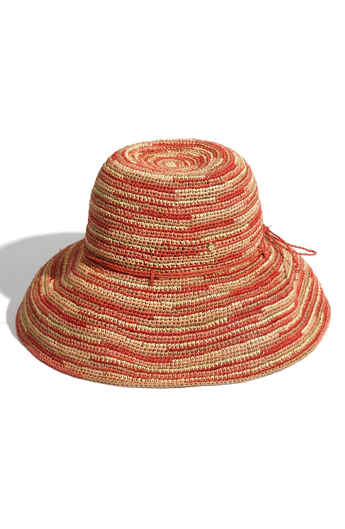 'Provence 12' Packable Raffia Hat,                             Main thumbnail 10, color,