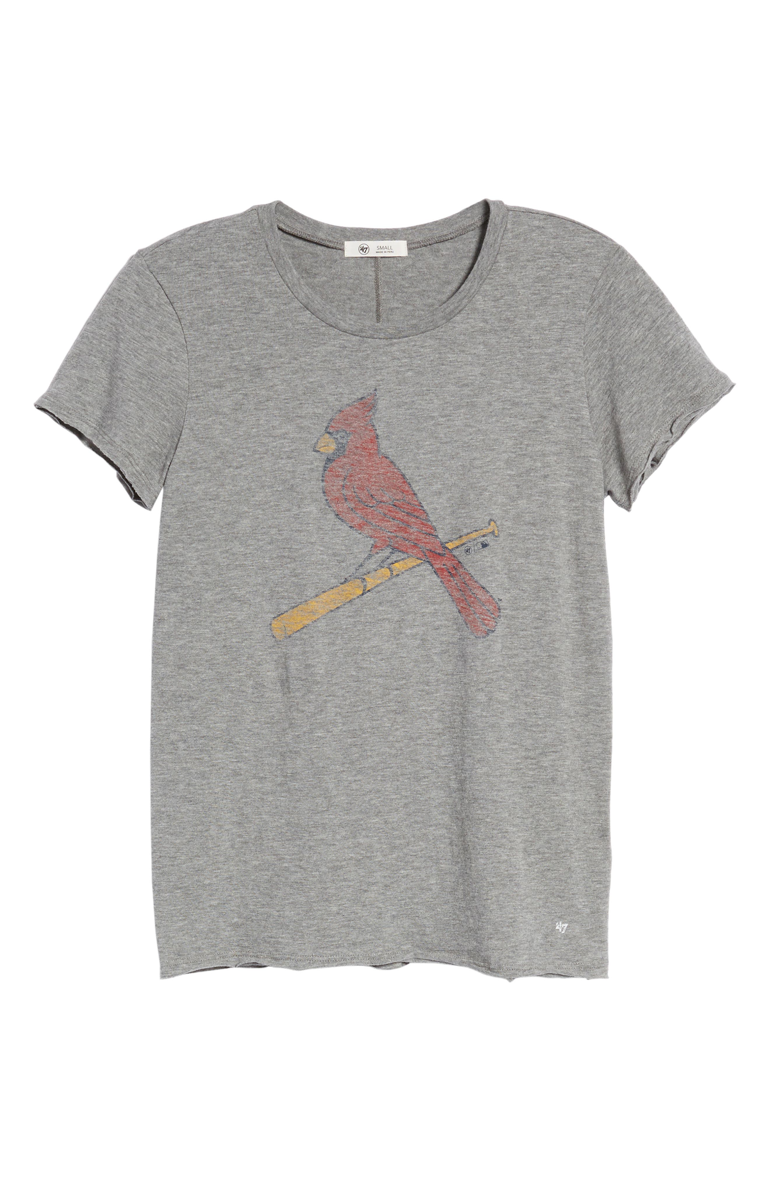 Saint Louis Cardinals Fader Letter Tee,                             Alternate thumbnail 7, color,