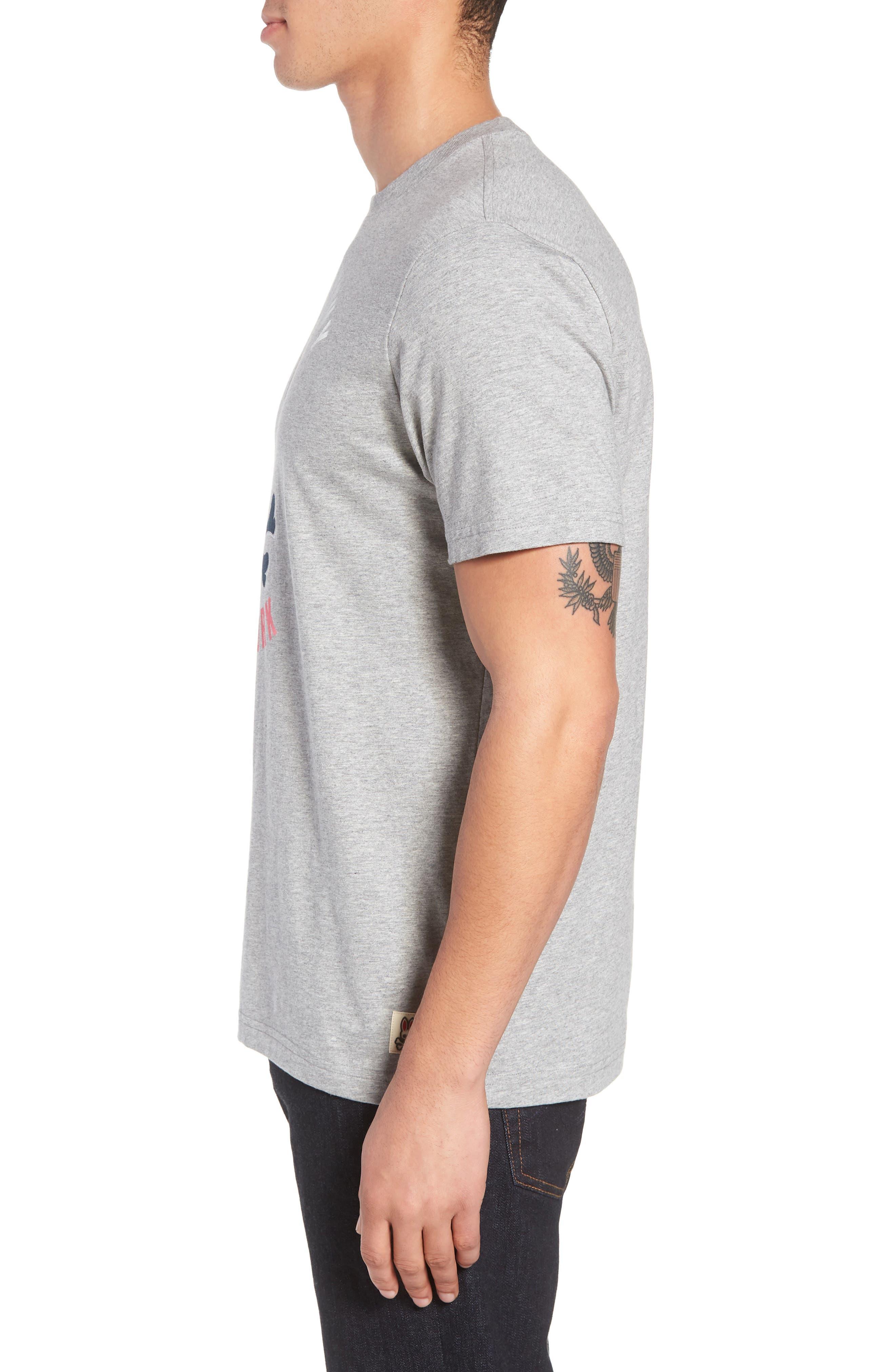 Print T-Shirt,                             Alternate thumbnail 3, color,                             HEATHER GREY