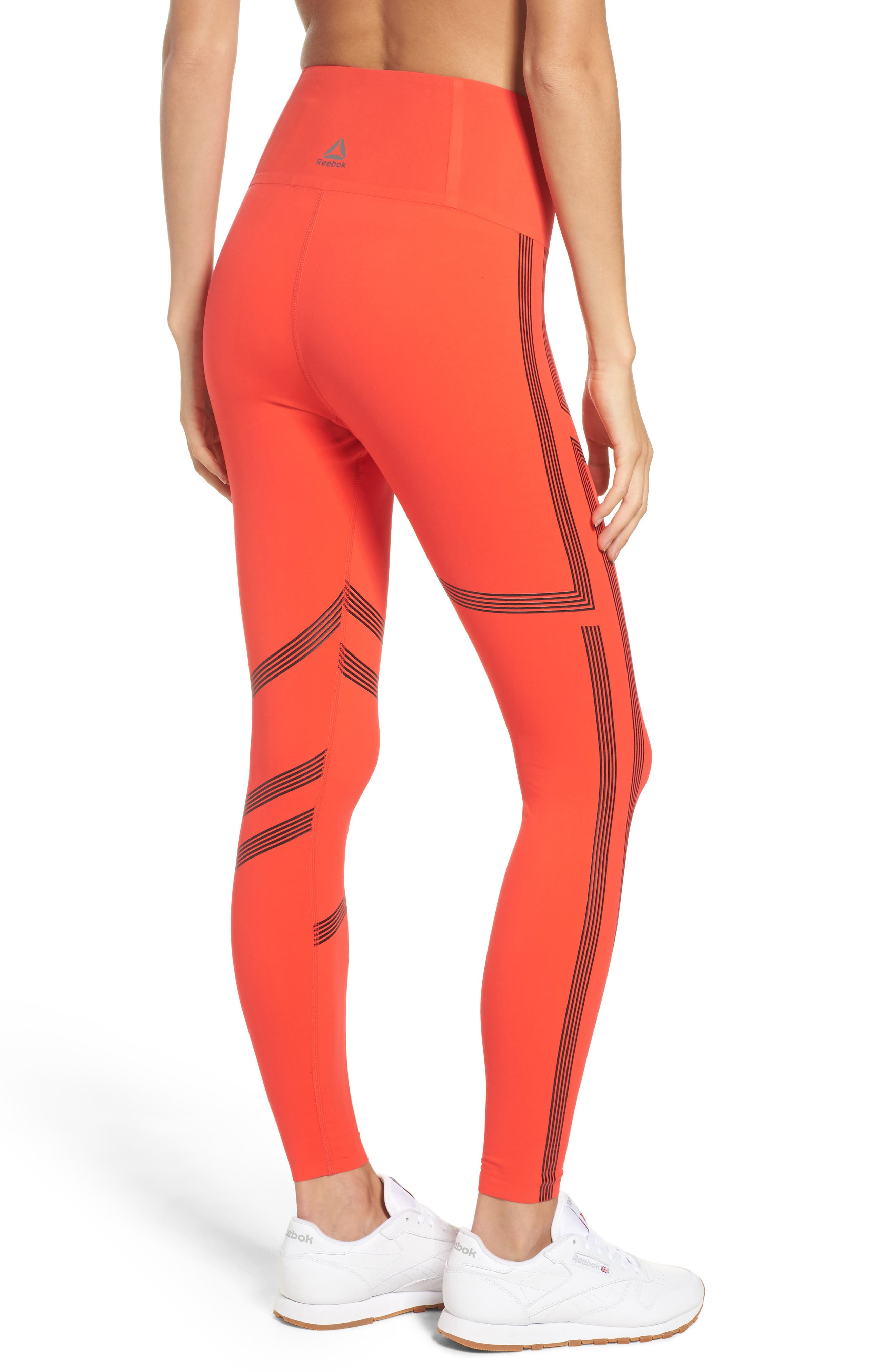 Linear High Rise Performance Tights,                             Alternate thumbnail 4, color,