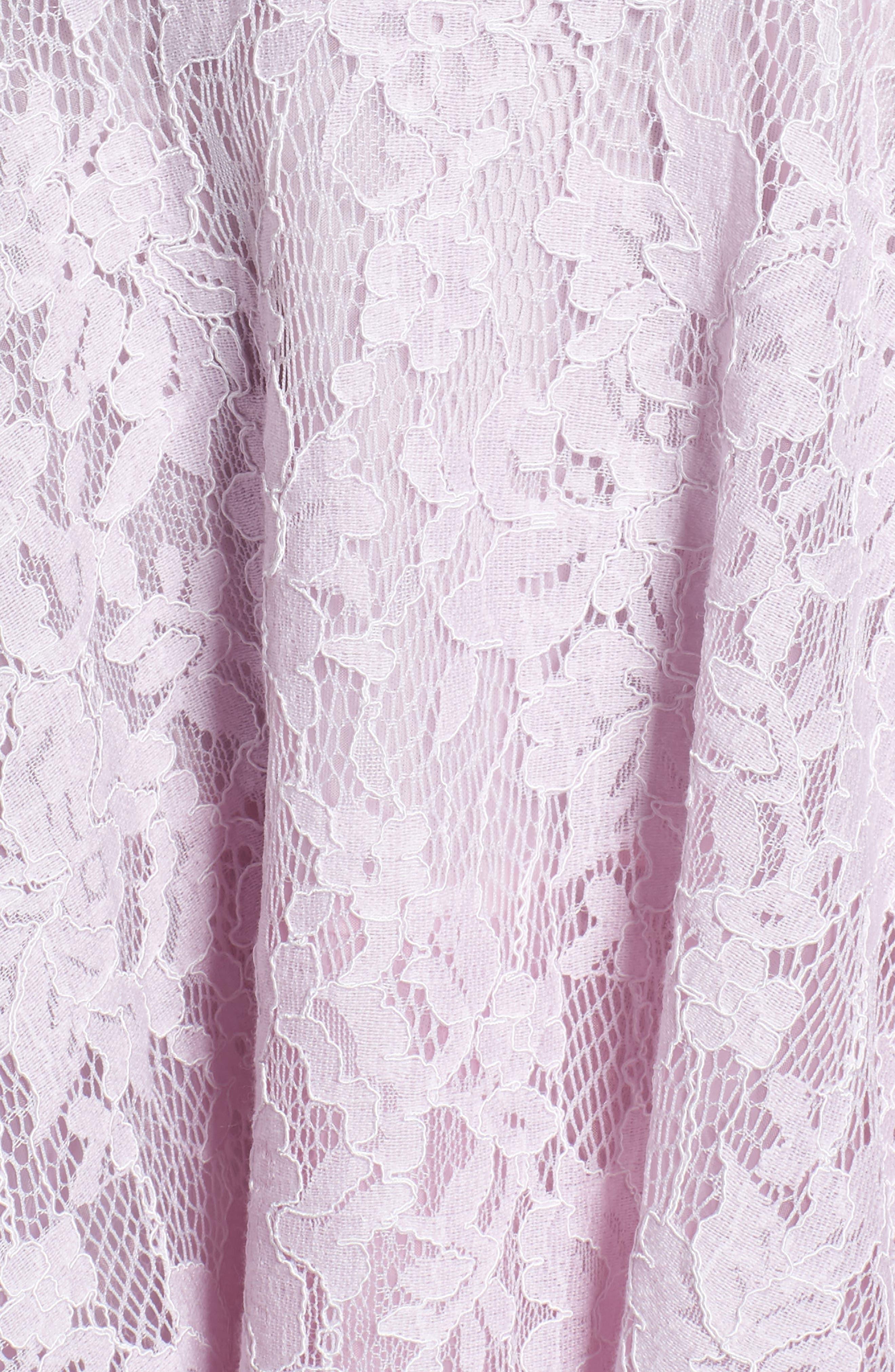 Lace Off the Shoulder Fit & Flare Dress,                             Alternate thumbnail 30, color,