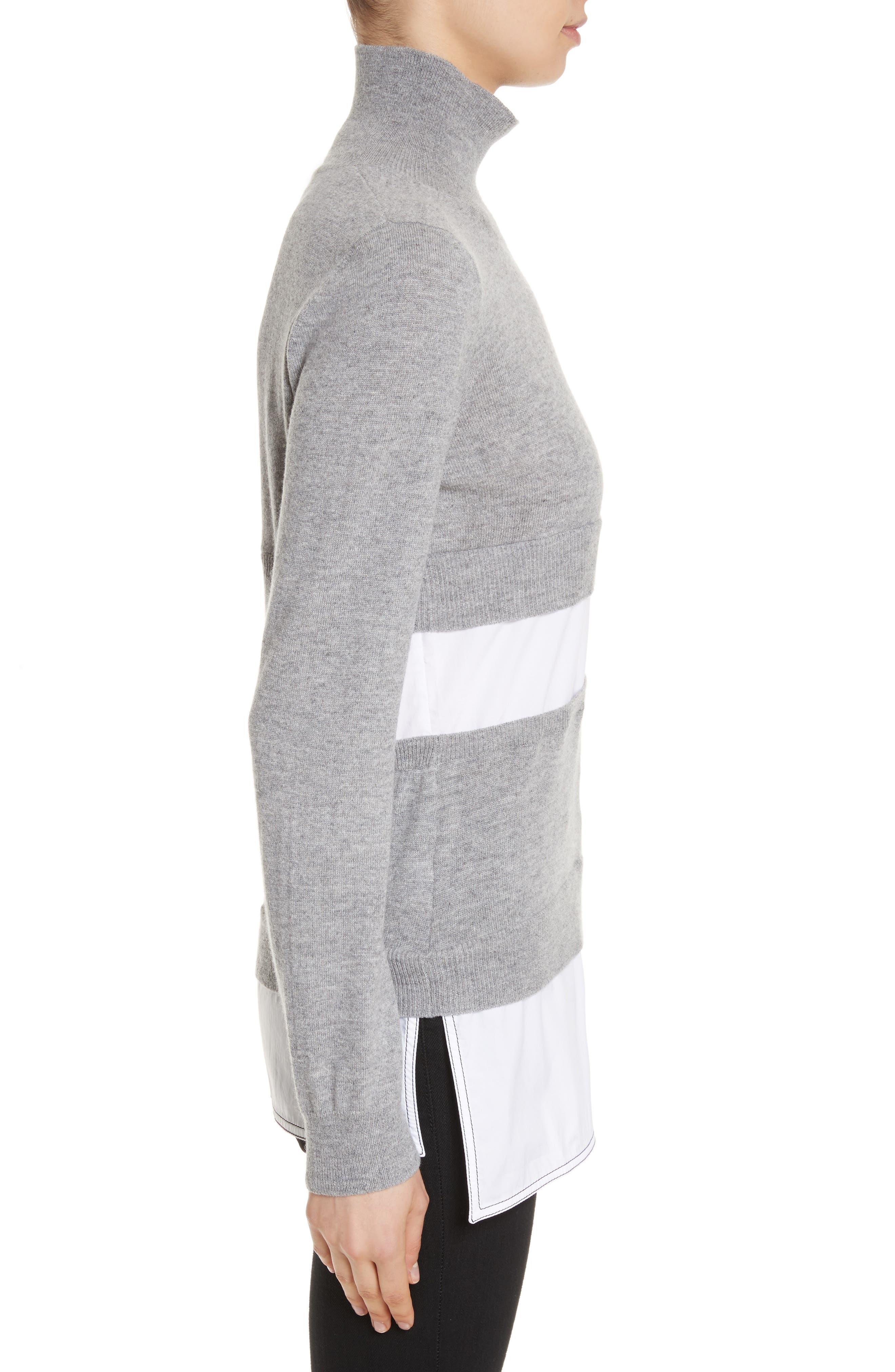 Turtleneck Sweater,                             Alternate thumbnail 3, color,                             020