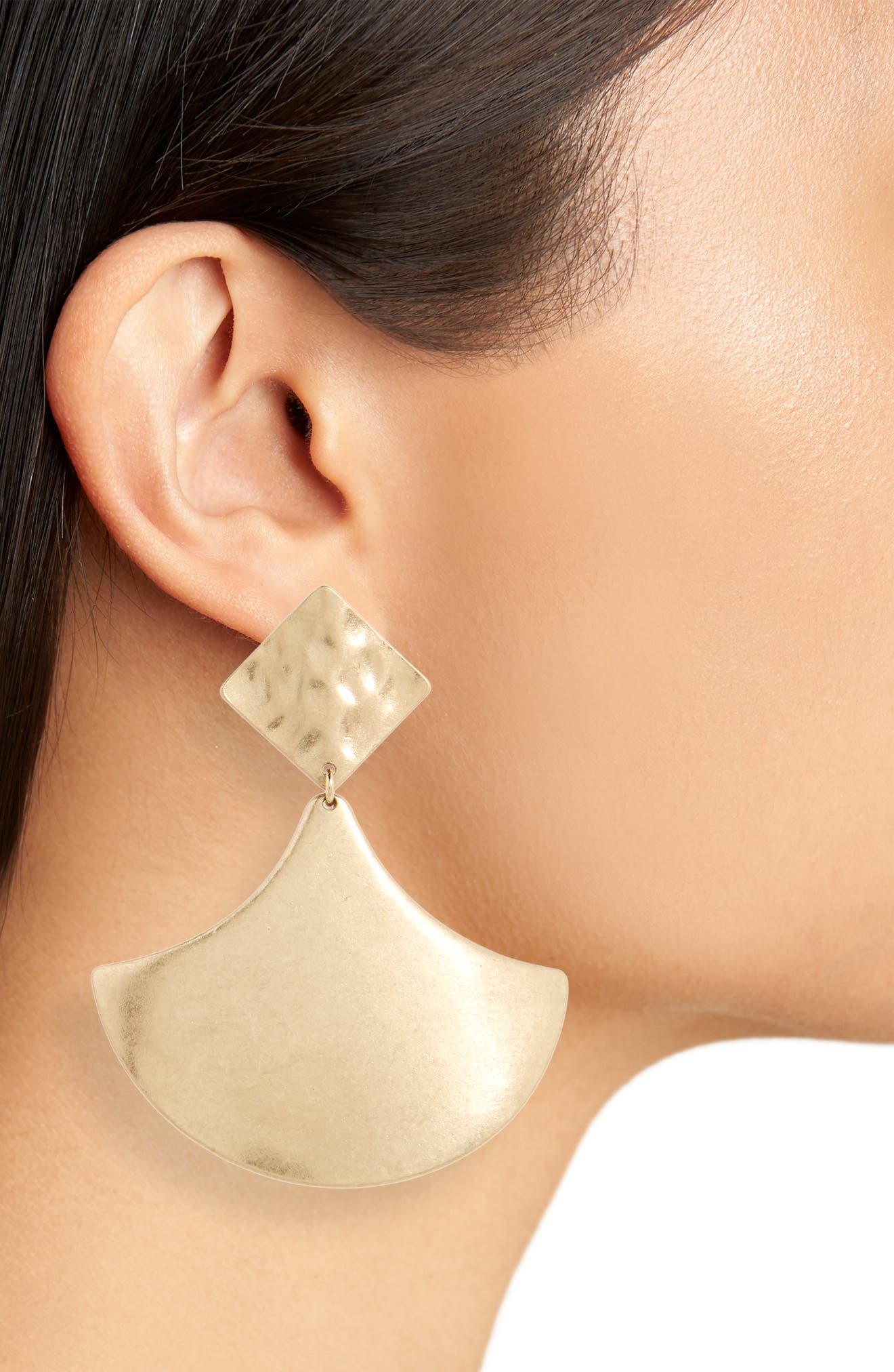 Metal Drop Earrings,                             Alternate thumbnail 2, color,