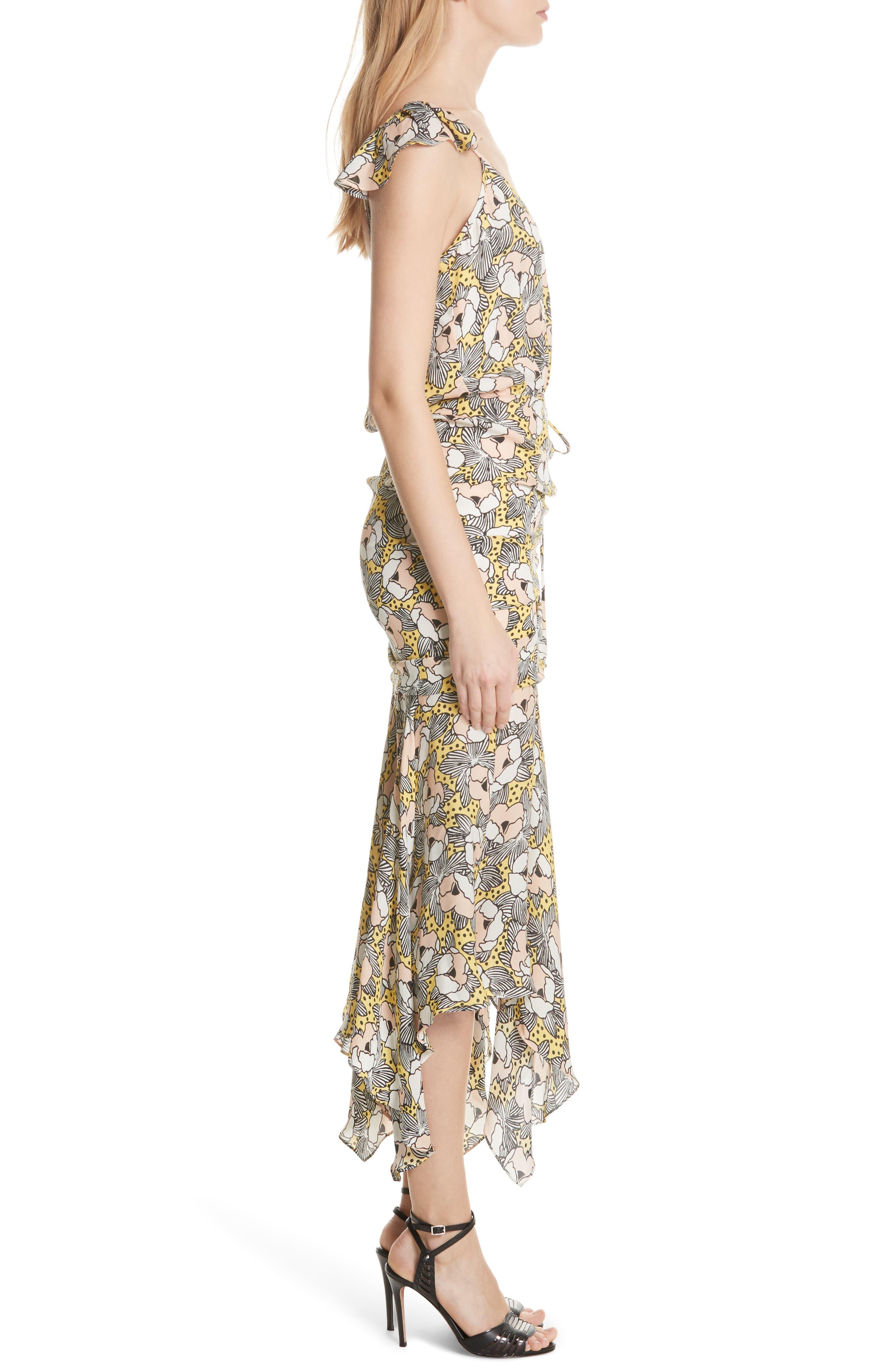 Martine Floral Print Dress,                             Alternate thumbnail 5, color,