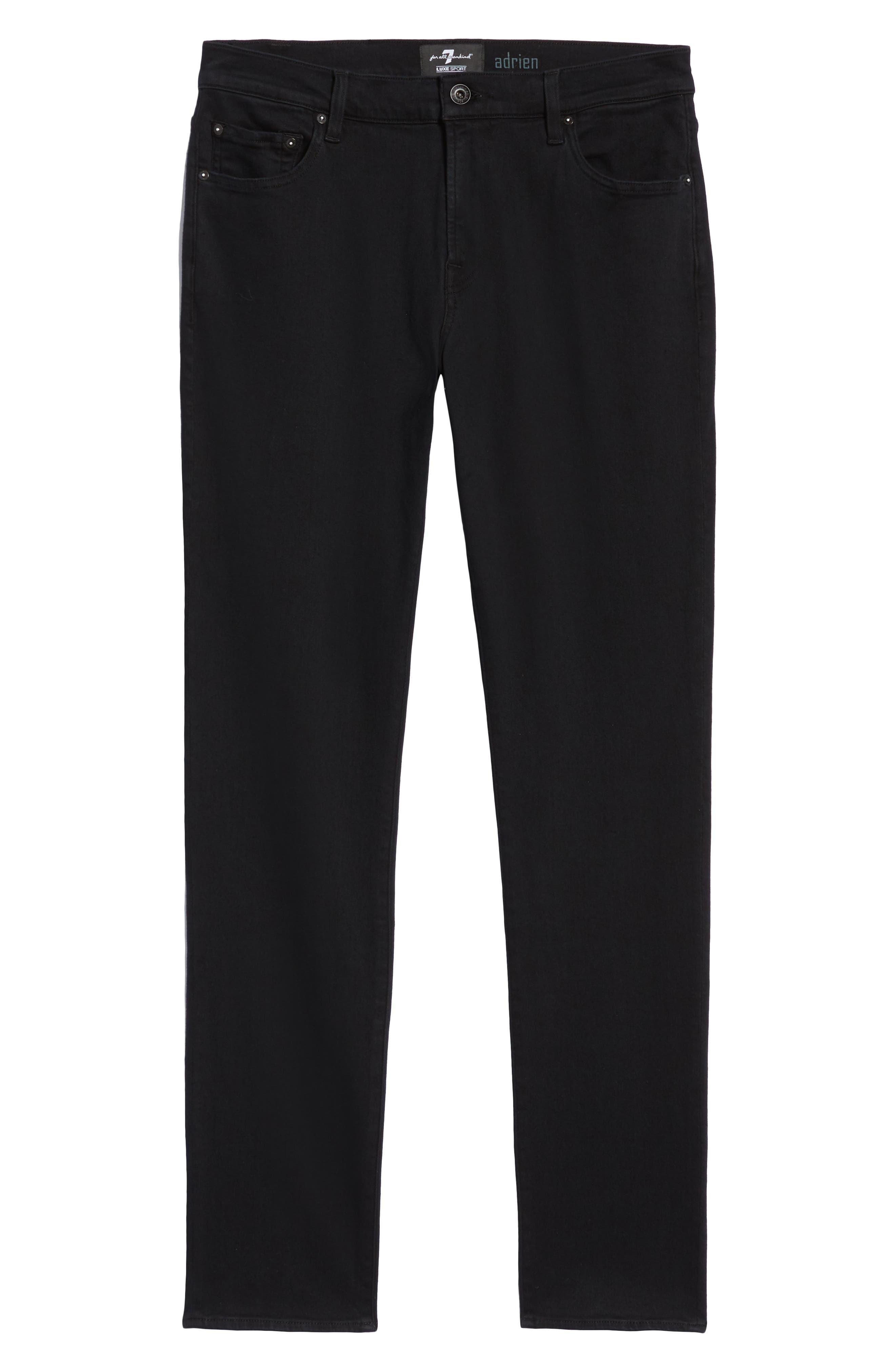 Adrien Slim Fit Straight Leg Jeans,                             Alternate thumbnail 6, color,                             AUTHENTIC BLACK