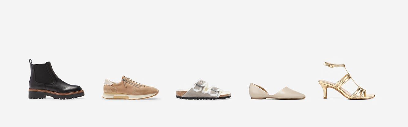 Women's comfort boots, sneakers, sandals, flats and heels.