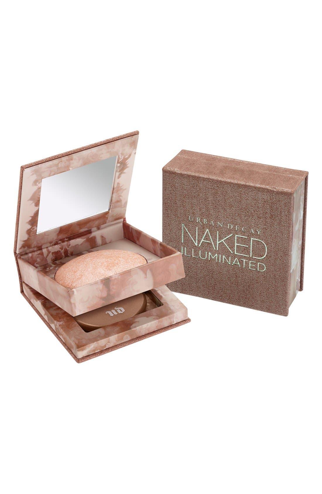 Naked Illuminated Shimmering Powder for Face & Body,                             Alternate thumbnail 3, color,                             LUMINOUS