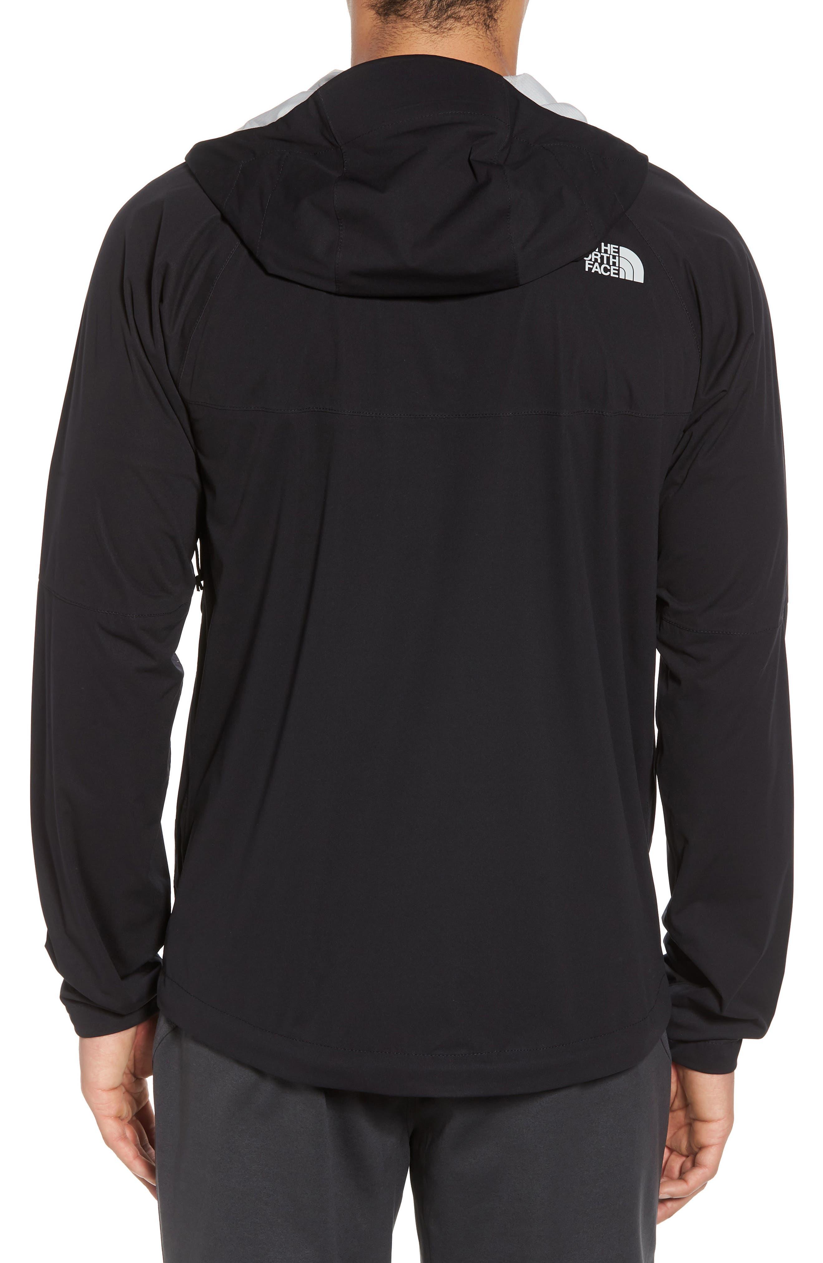 Allproof Stretch Hooded Rain Jacket,                             Alternate thumbnail 2, color,                             TNF BLACK