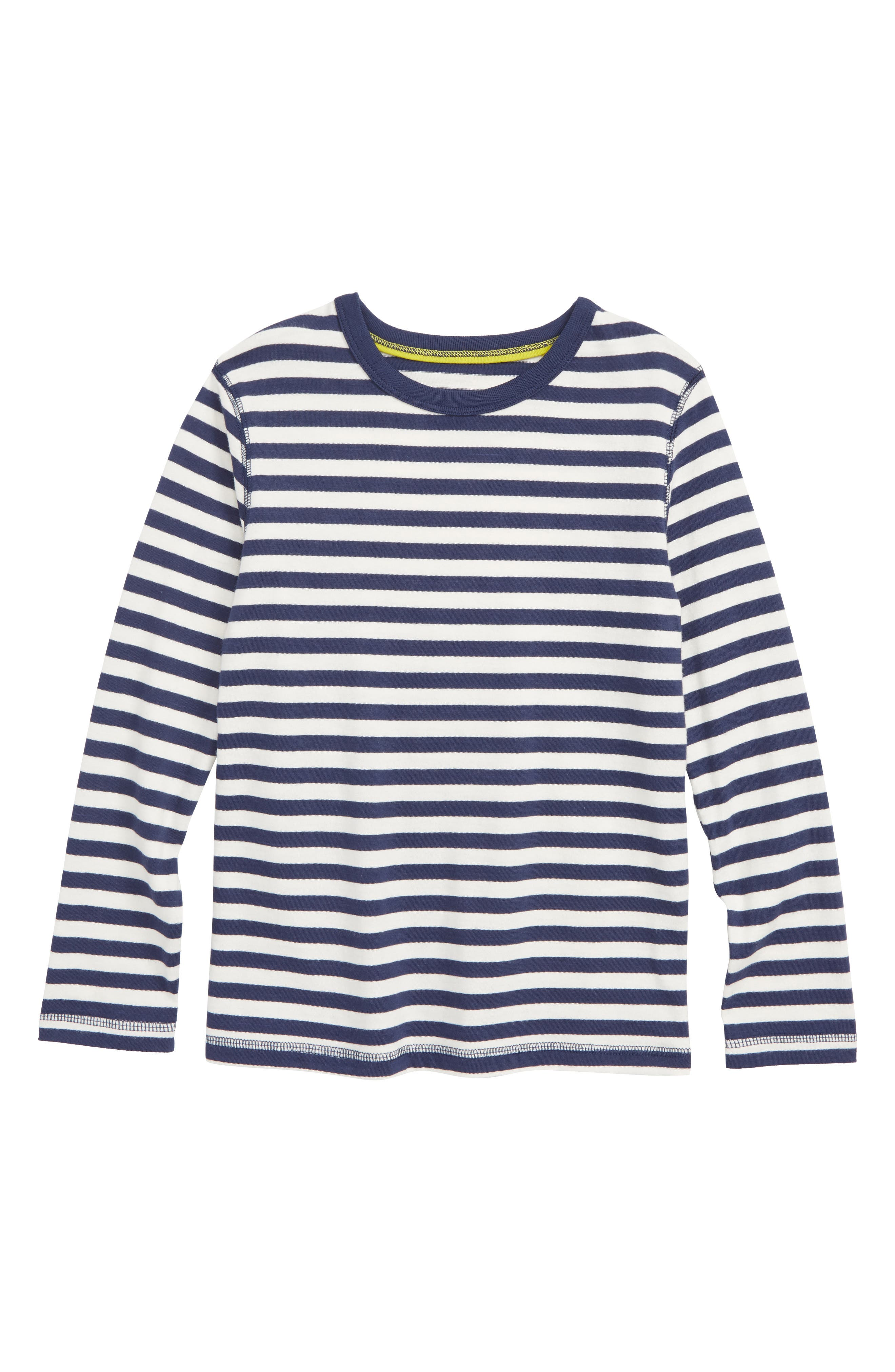 Supersoft Stripe T-Shirt,                         Main,                         color, SCHOOL NAVY/ ECRU