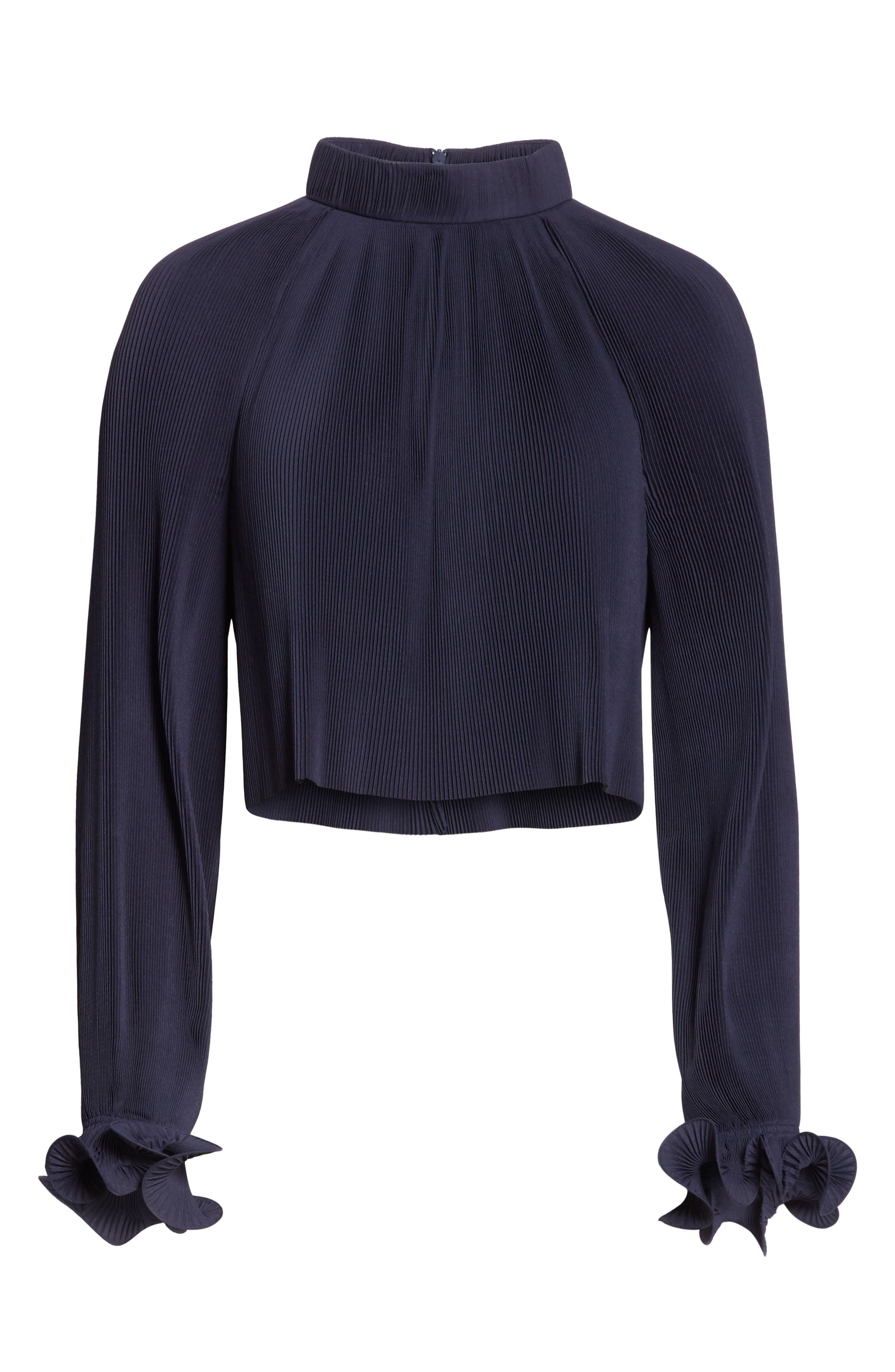 Pleated Crop Top,                             Alternate thumbnail 23, color,