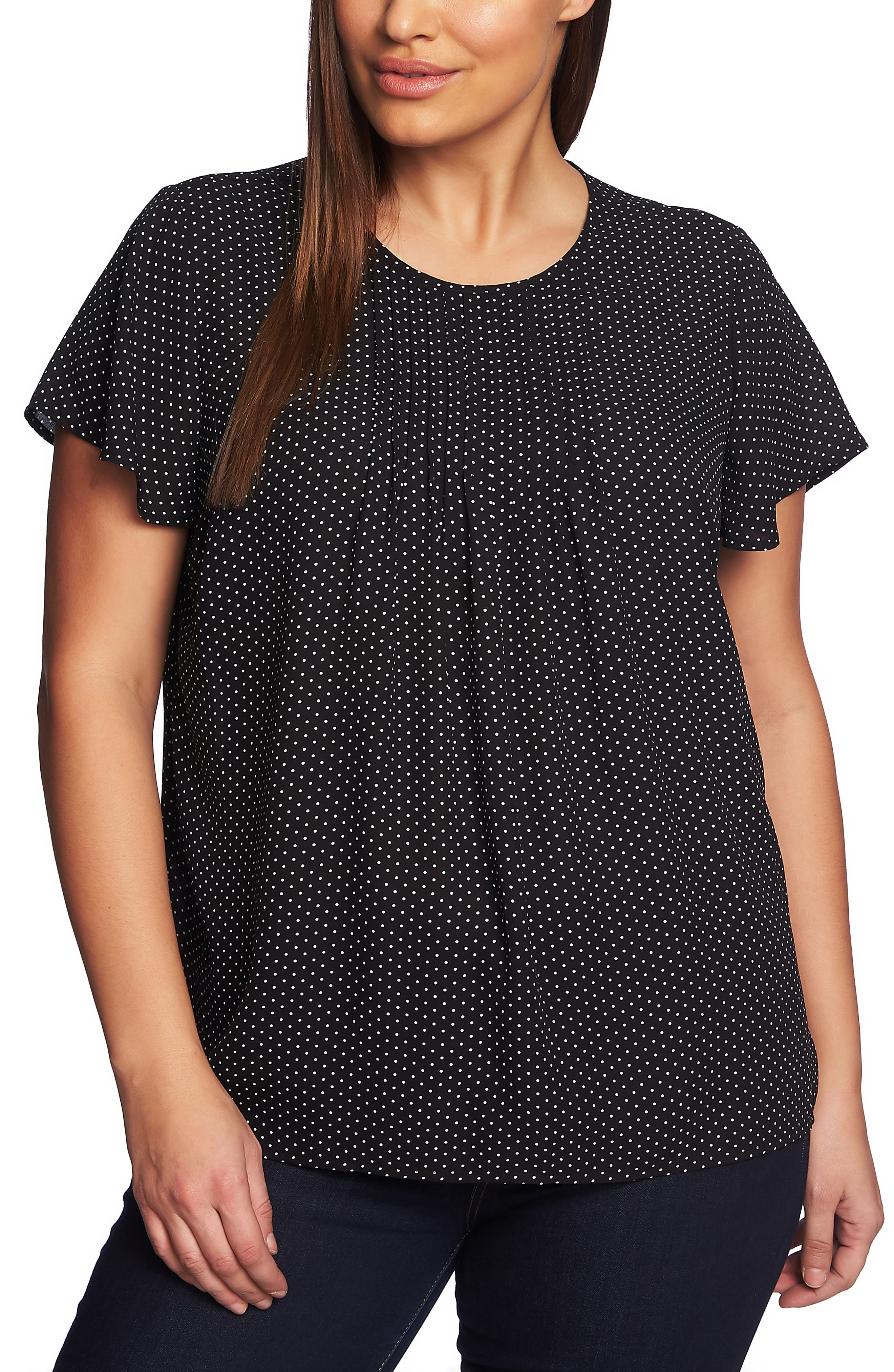 Refined Pindot Pintuck Blouse, Main, color, 001