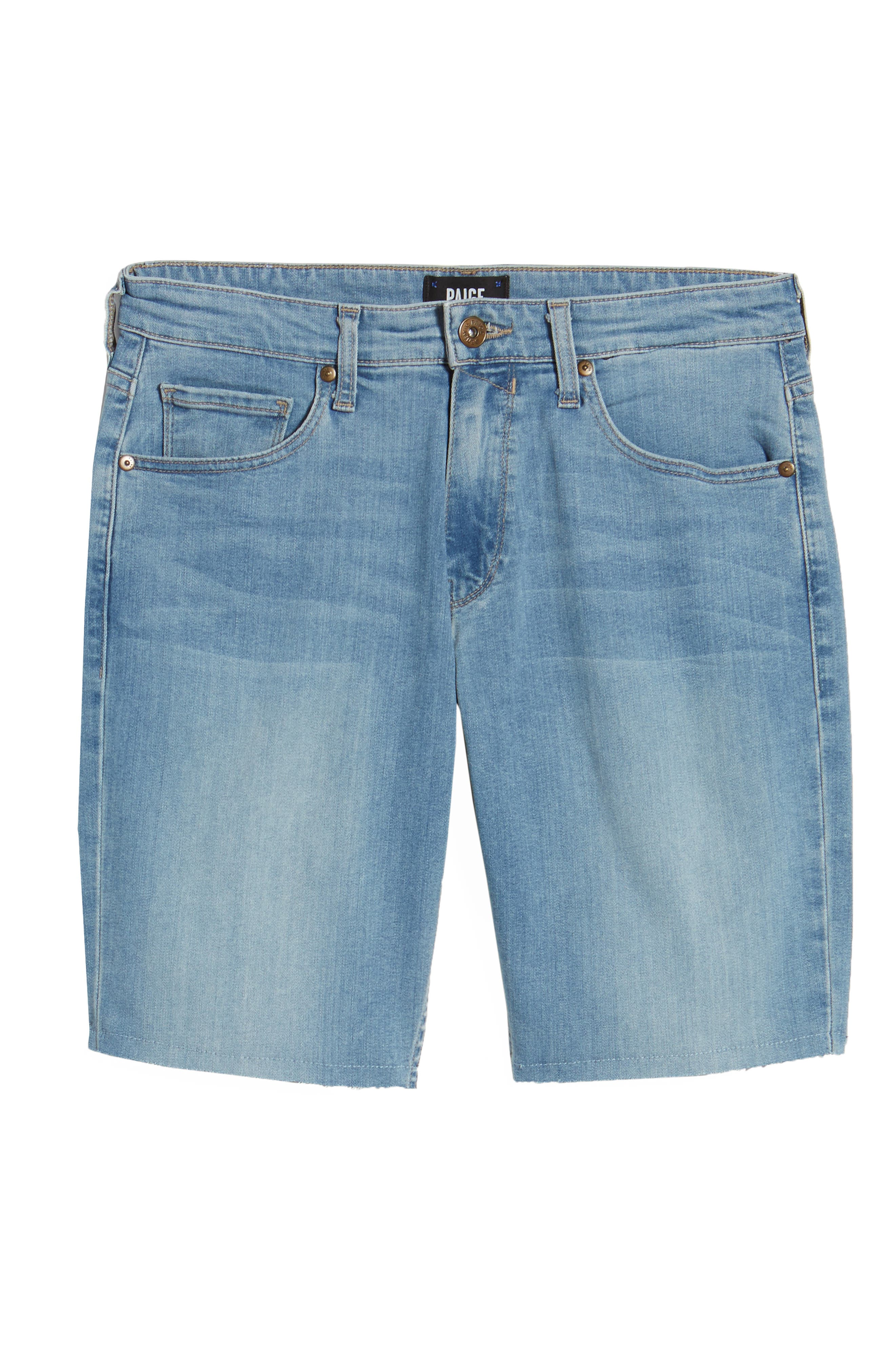 Transcend - Federal Slim Straight Leg Denim Shorts,                             Alternate thumbnail 6, color,                             400
