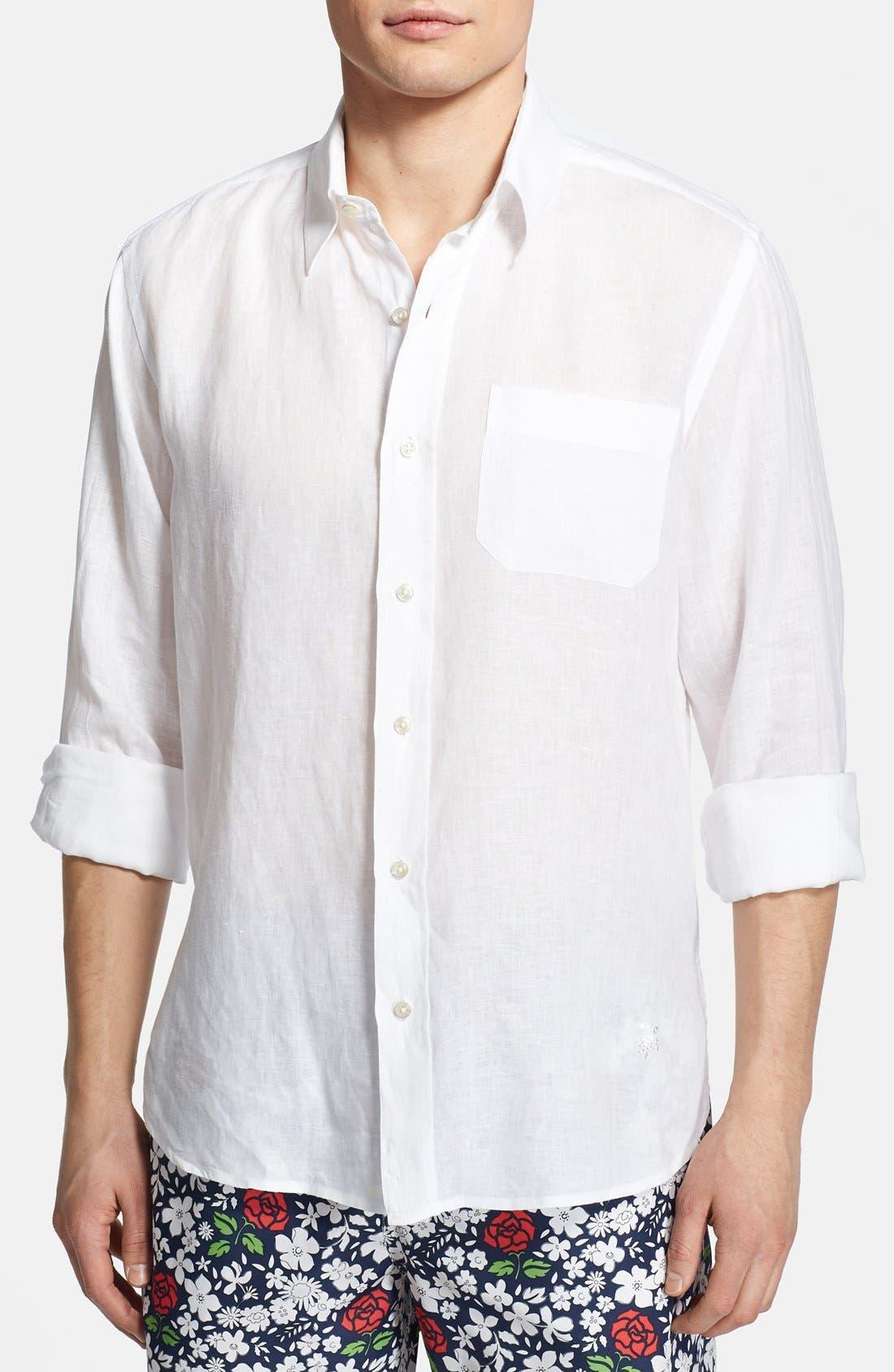 'Caroubier' Linen Shirt,                             Alternate thumbnail 18, color,