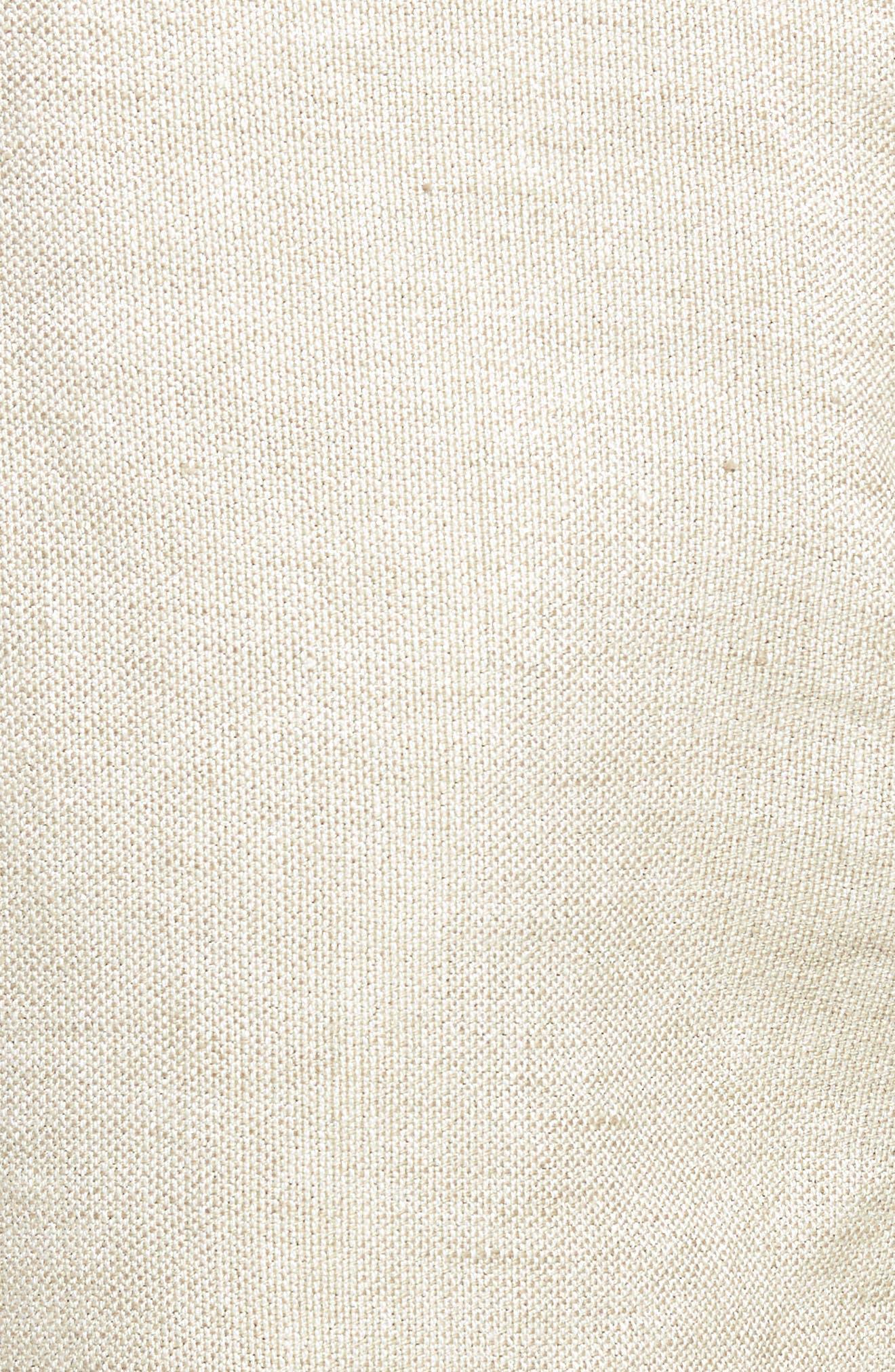 Organic Linen Blend Walking Shorts,                             Alternate thumbnail 5, color,