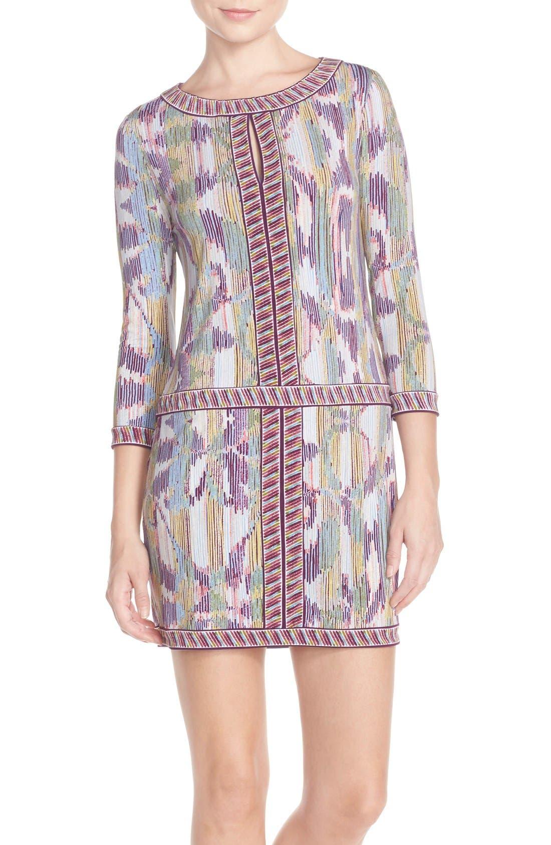 'Tawnya' Print Jersey Dress, Main, color, 590