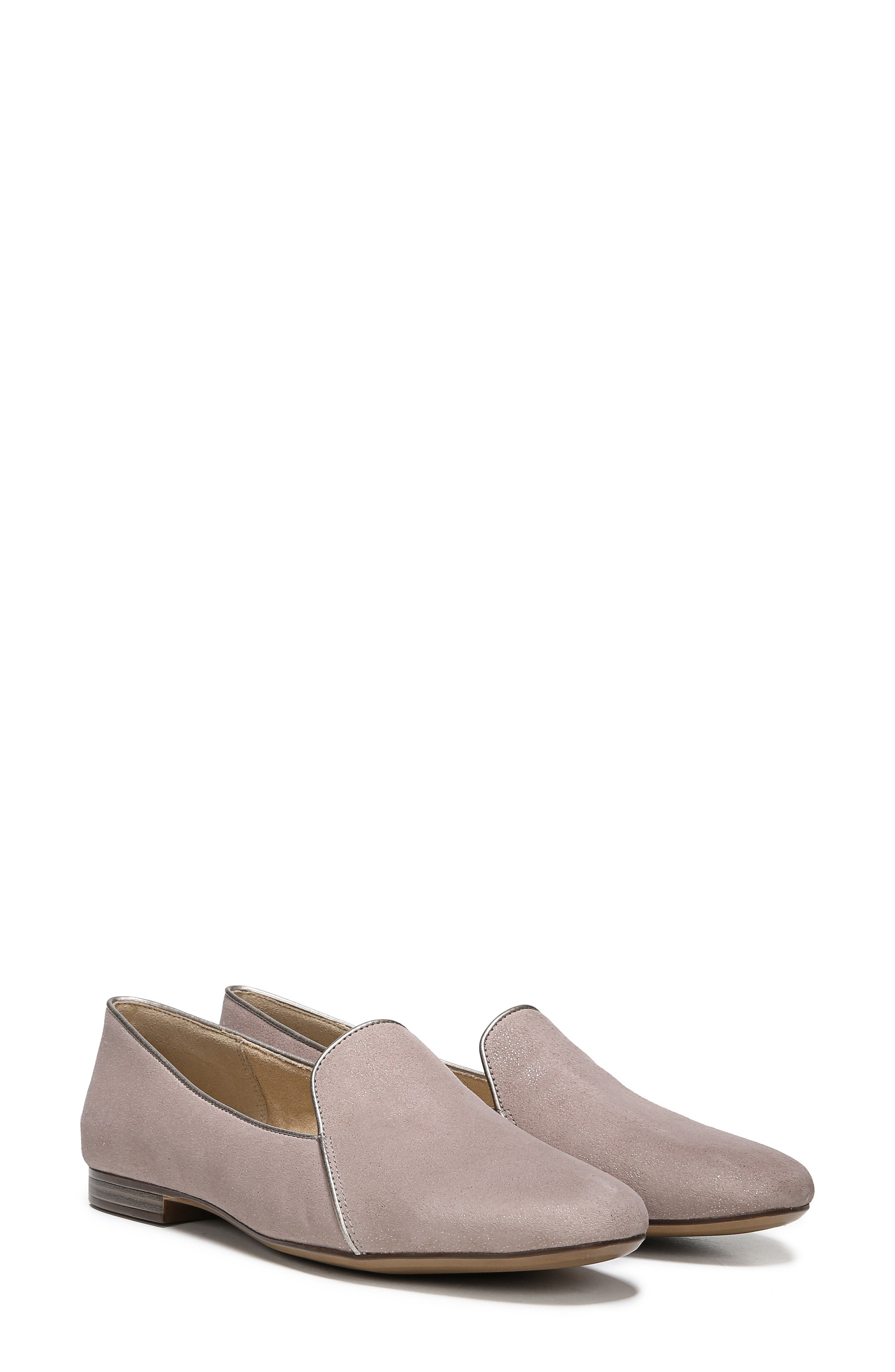 Emiline 2 Loafer,                             Alternate thumbnail 9, color,                             TAUPE GLITTER DUST SUEDE