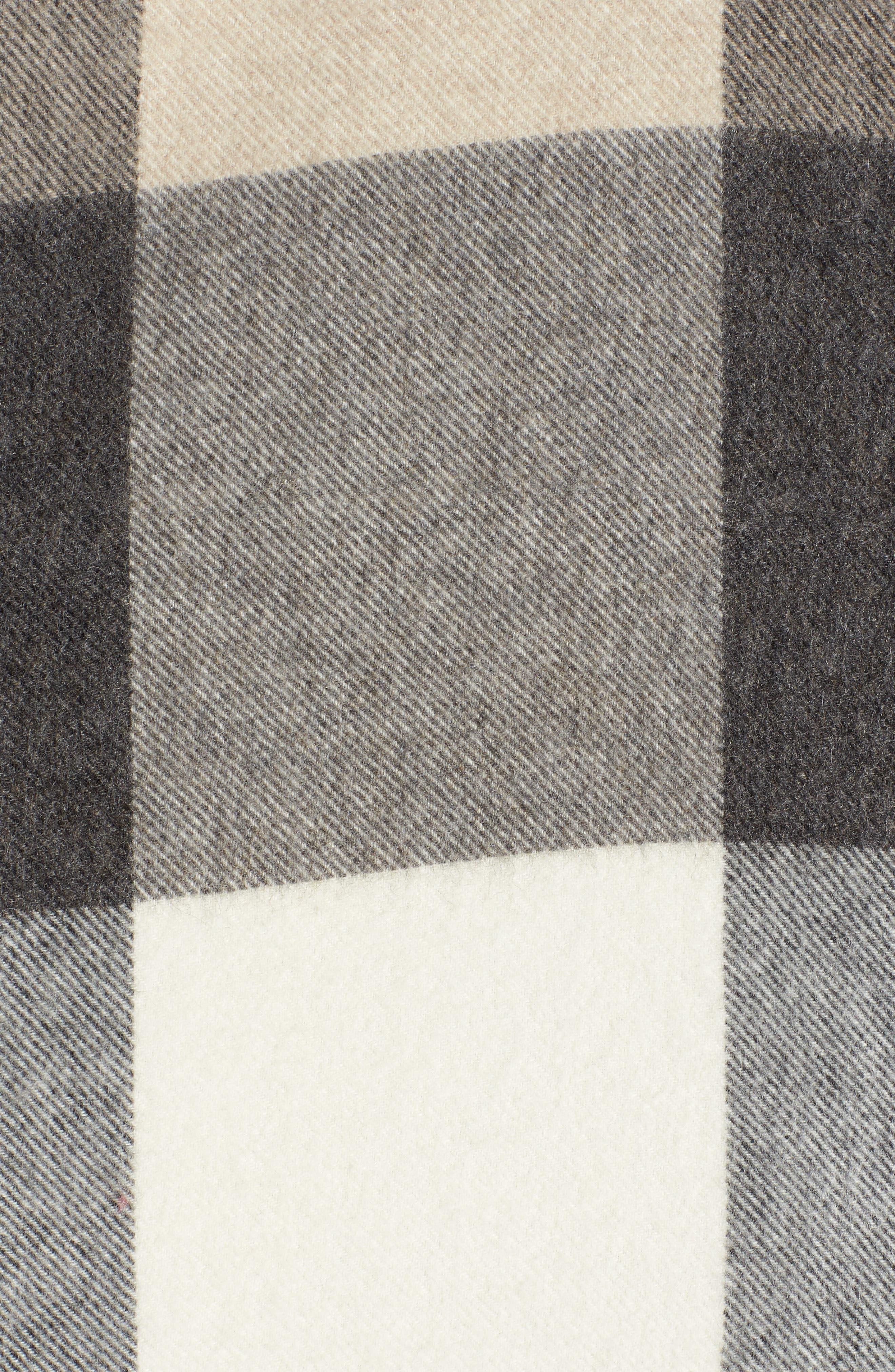 Nordstrom Buffalo Check Cashmere Wrap,                             Alternate thumbnail 5, color,                             001