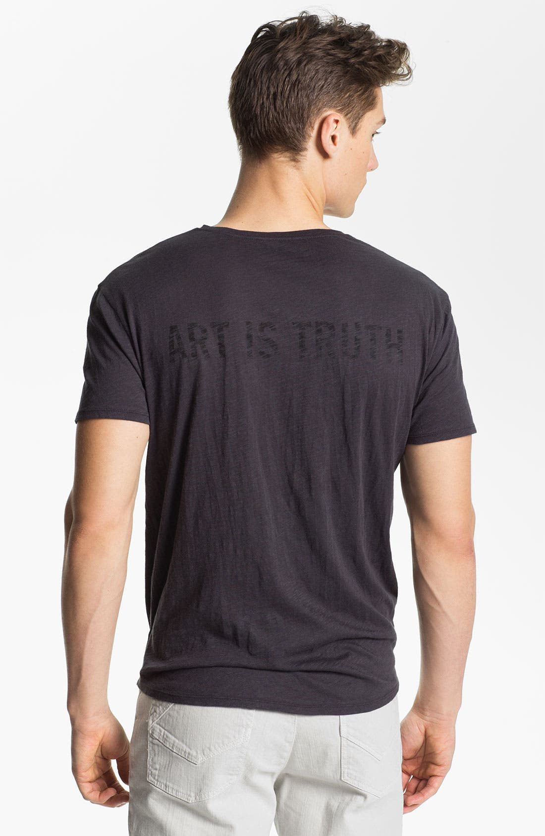 ZADIG & VOLTAIRE,                             'Art Is Truth' Graphic V-Neck T-Shirt,                             Alternate thumbnail 2, color,                             025