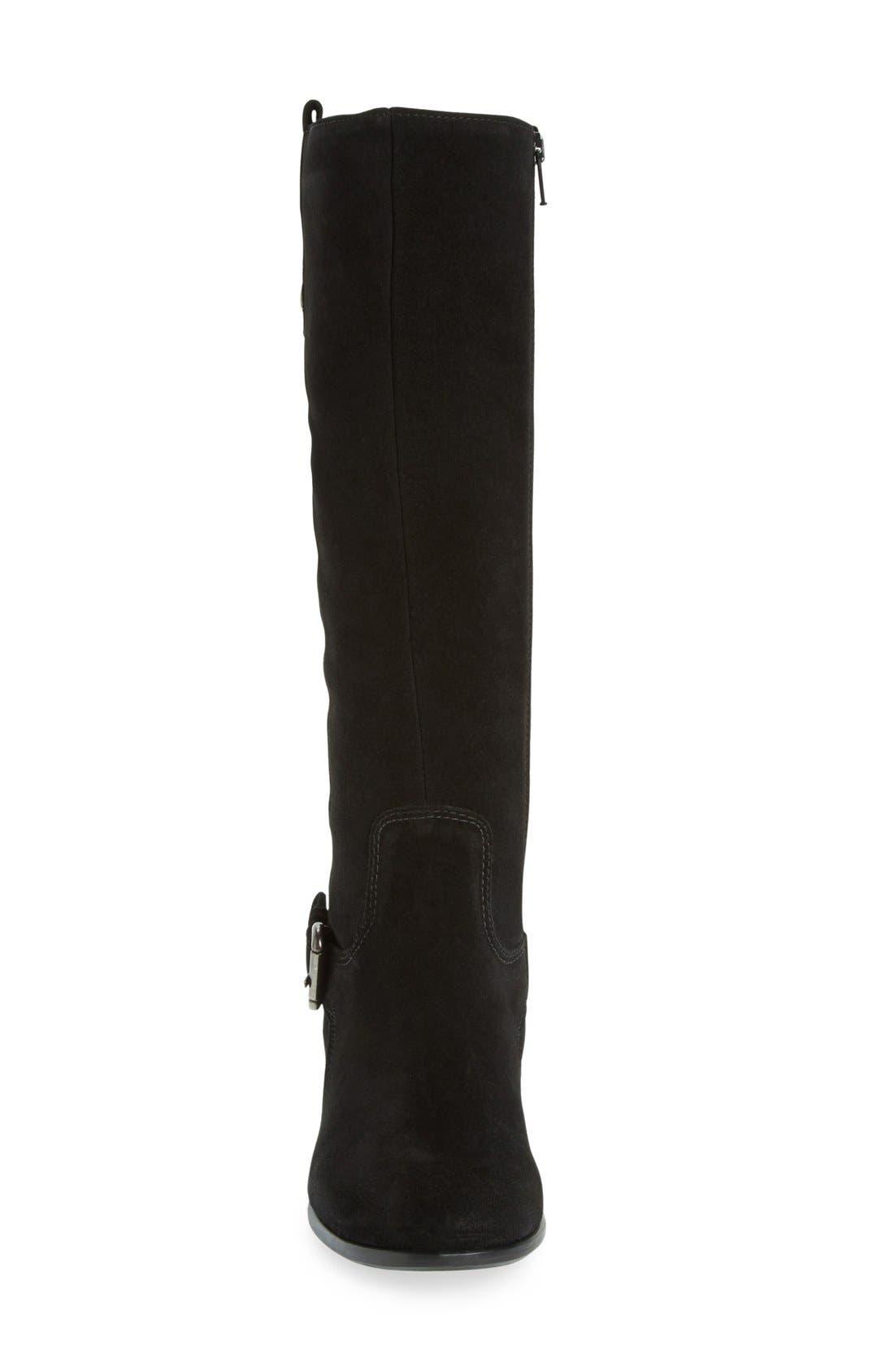'Stefanie' Waterproof Boot,                             Alternate thumbnail 8, color,                             BLACK SUEDE