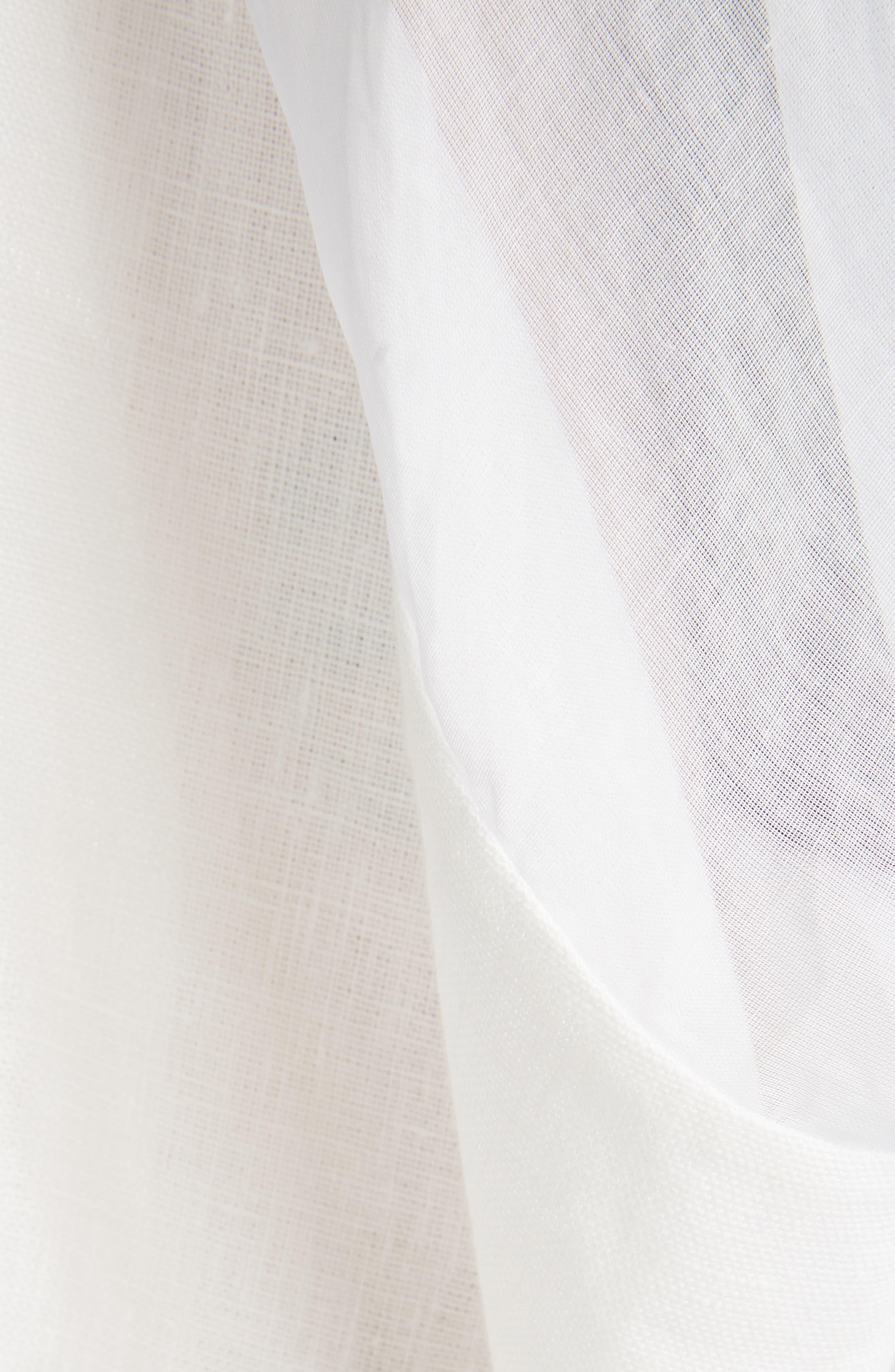 Sheer Cotton & Linen Trench Coat,                             Alternate thumbnail 5, color,                             WHITE