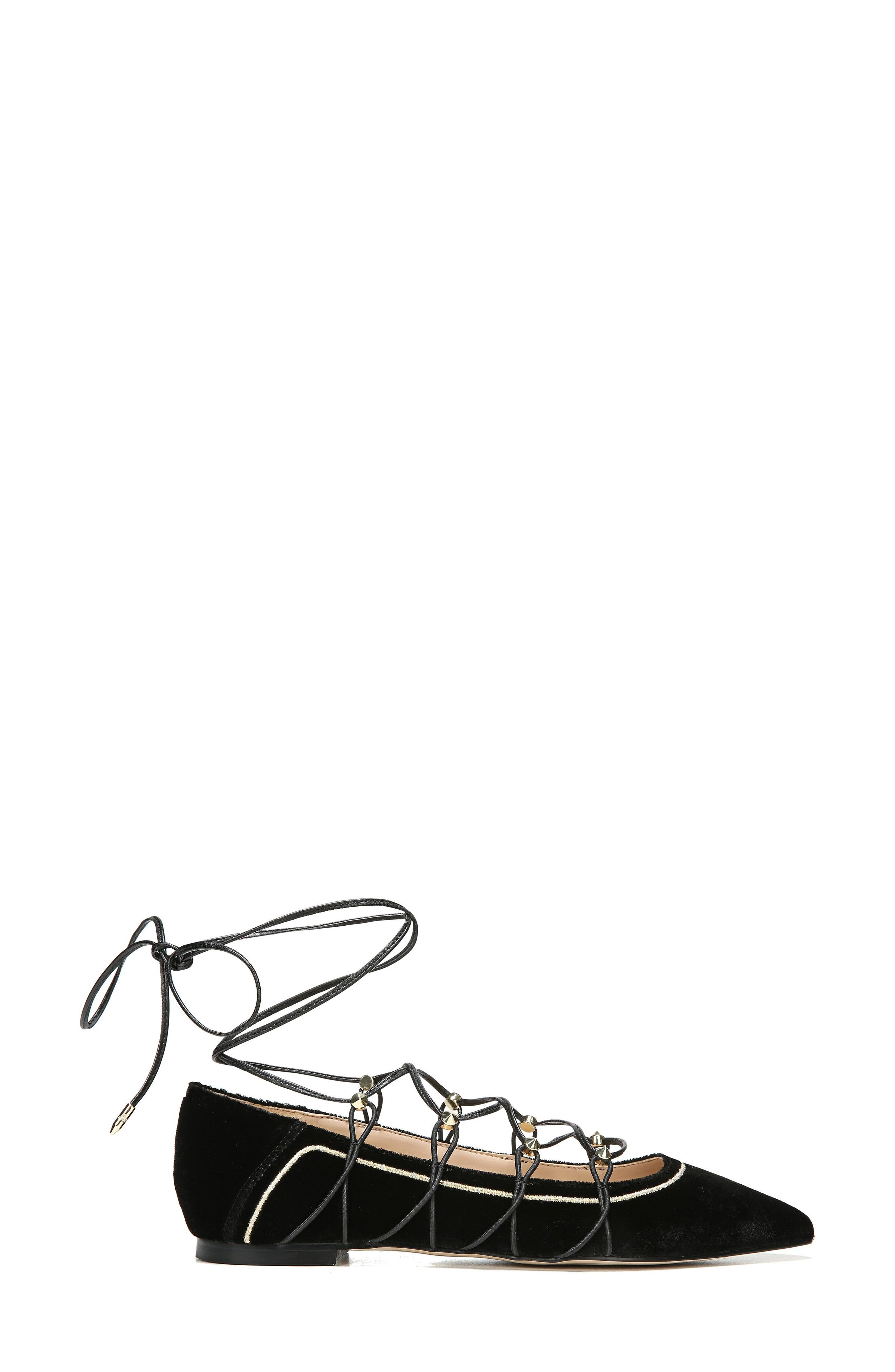 Rockwell Ghillie Pointy Toe Flat,                             Alternate thumbnail 5, color,