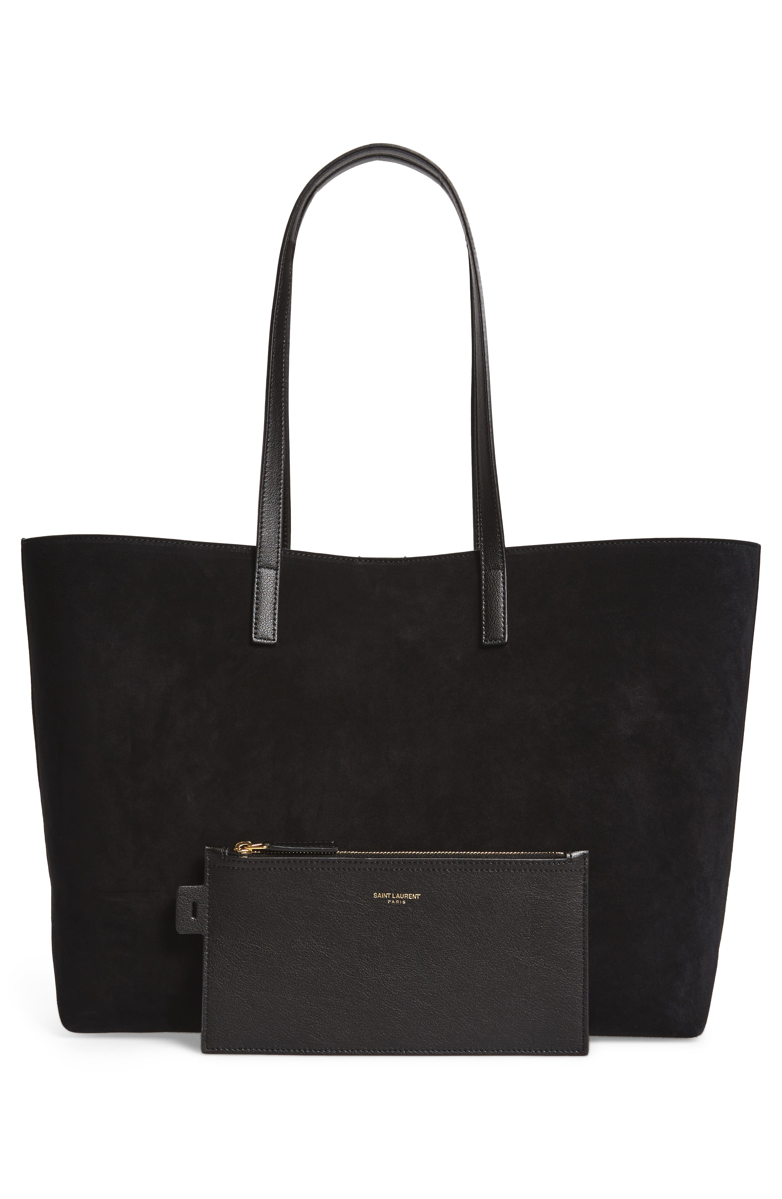 East/West Suede Tote,                             Alternate thumbnail 3, color,                             001