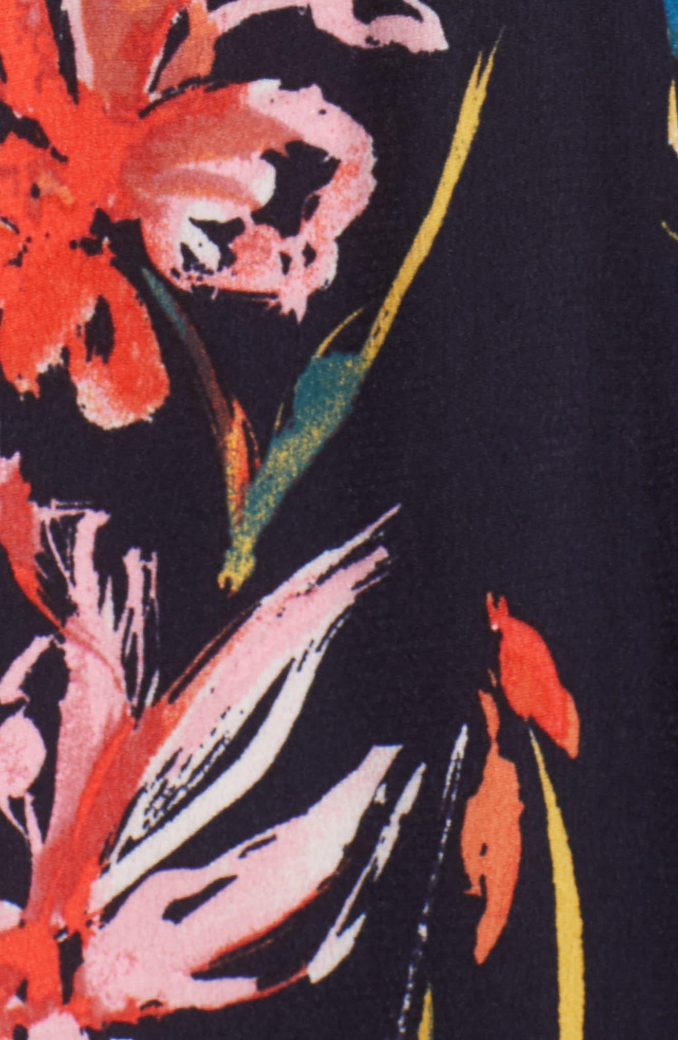 Flounce Wrap Midi Dress,                             Alternate thumbnail 6, color,                             401