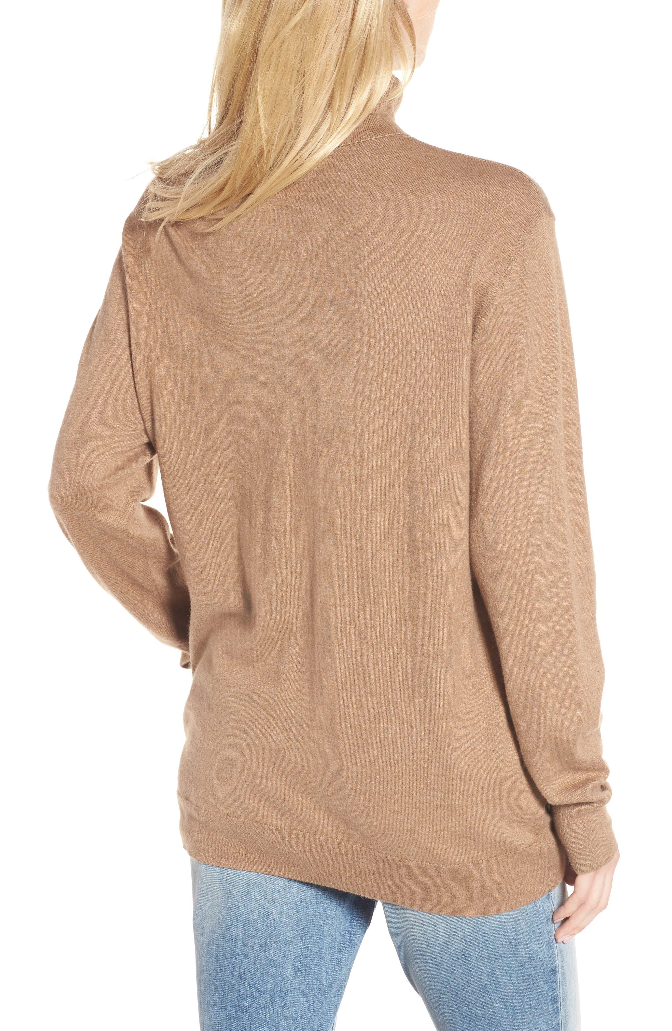 Boyfriend Turtleneck Sweater,                             Alternate thumbnail 6, color,