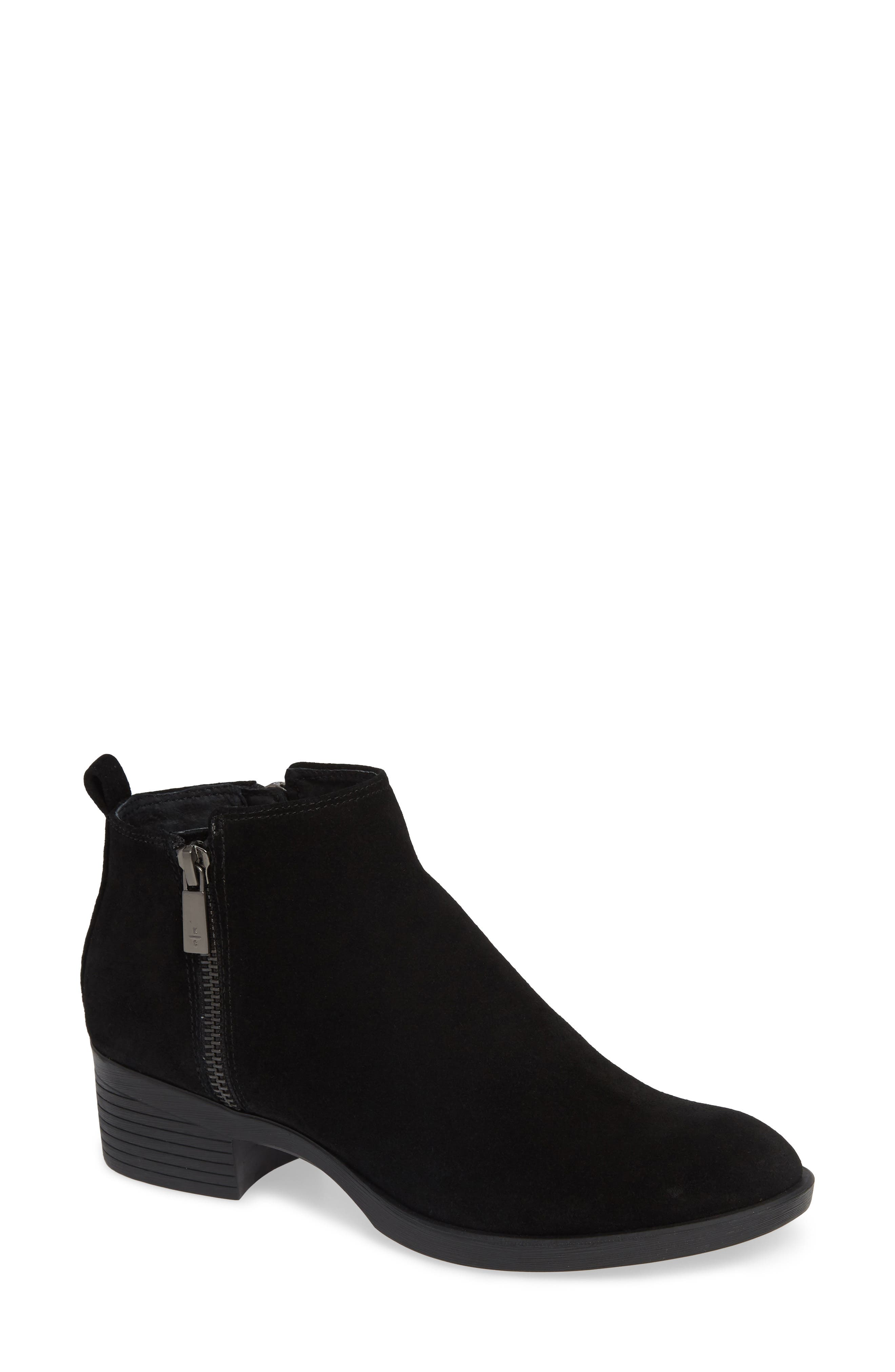 'Levon' Bootie,                         Main,                         color, BLACK SUEDE