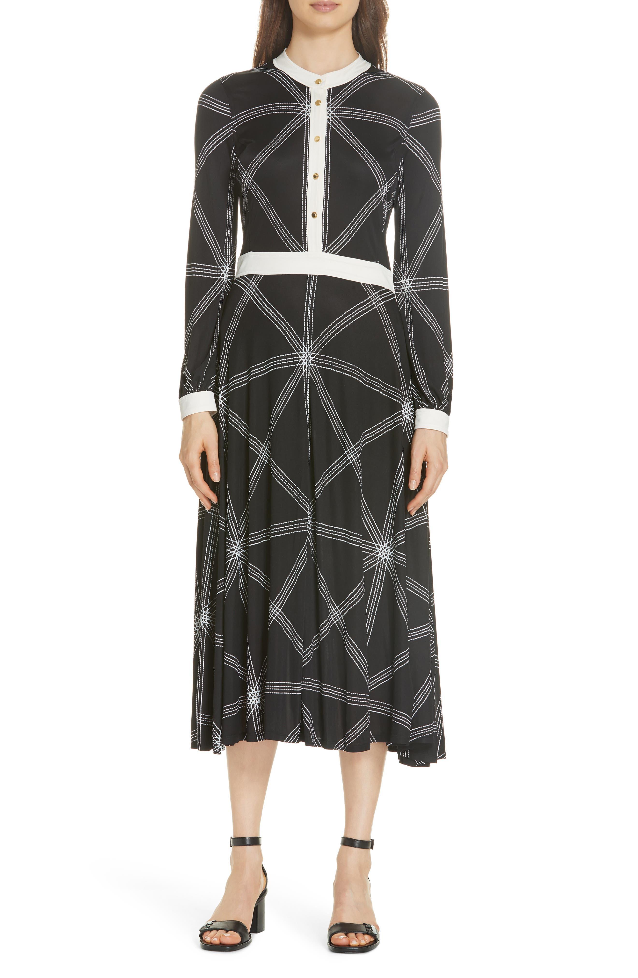 Anja Midi Dress, Main, color, 001