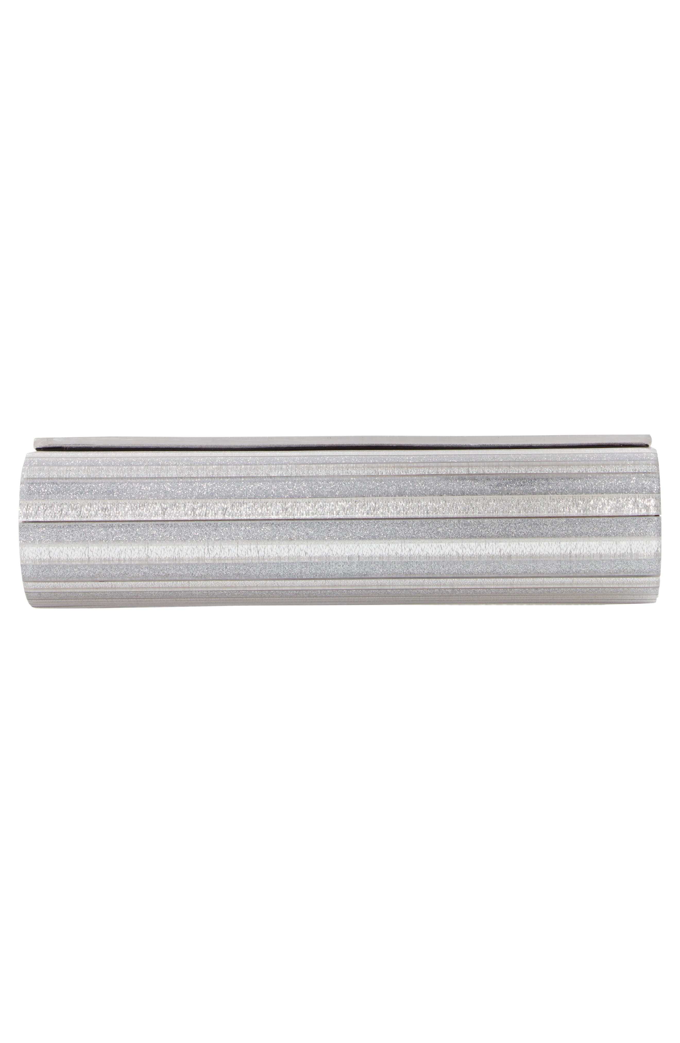 Glitter Lucite<sup>®</sup> Bar Clutch,                             Alternate thumbnail 6, color,                             SILVER