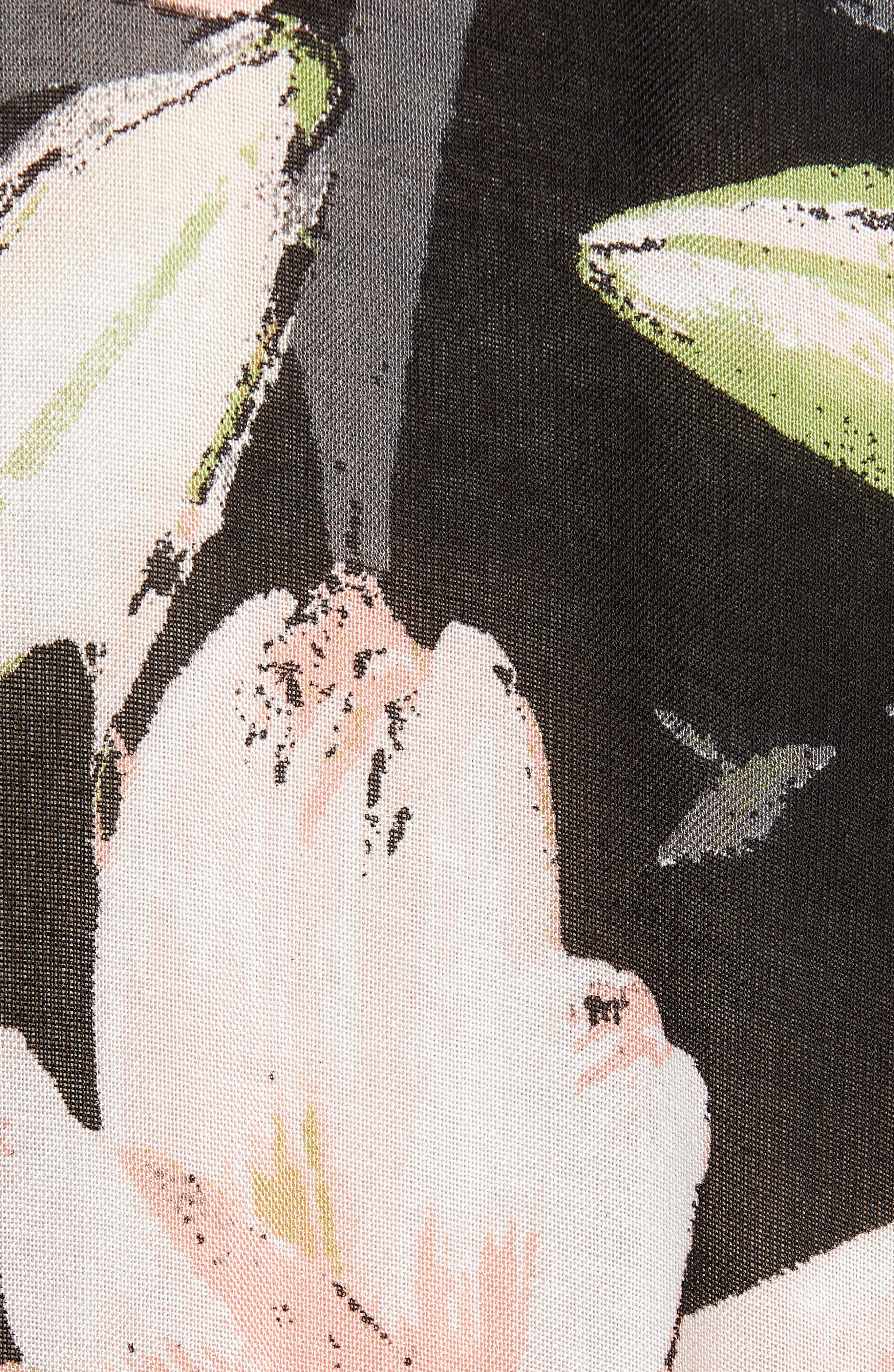NORDSTROM,                             Print Kimono Wrap,                             Alternate thumbnail 6, color,                             BLACK DIGI FLORA