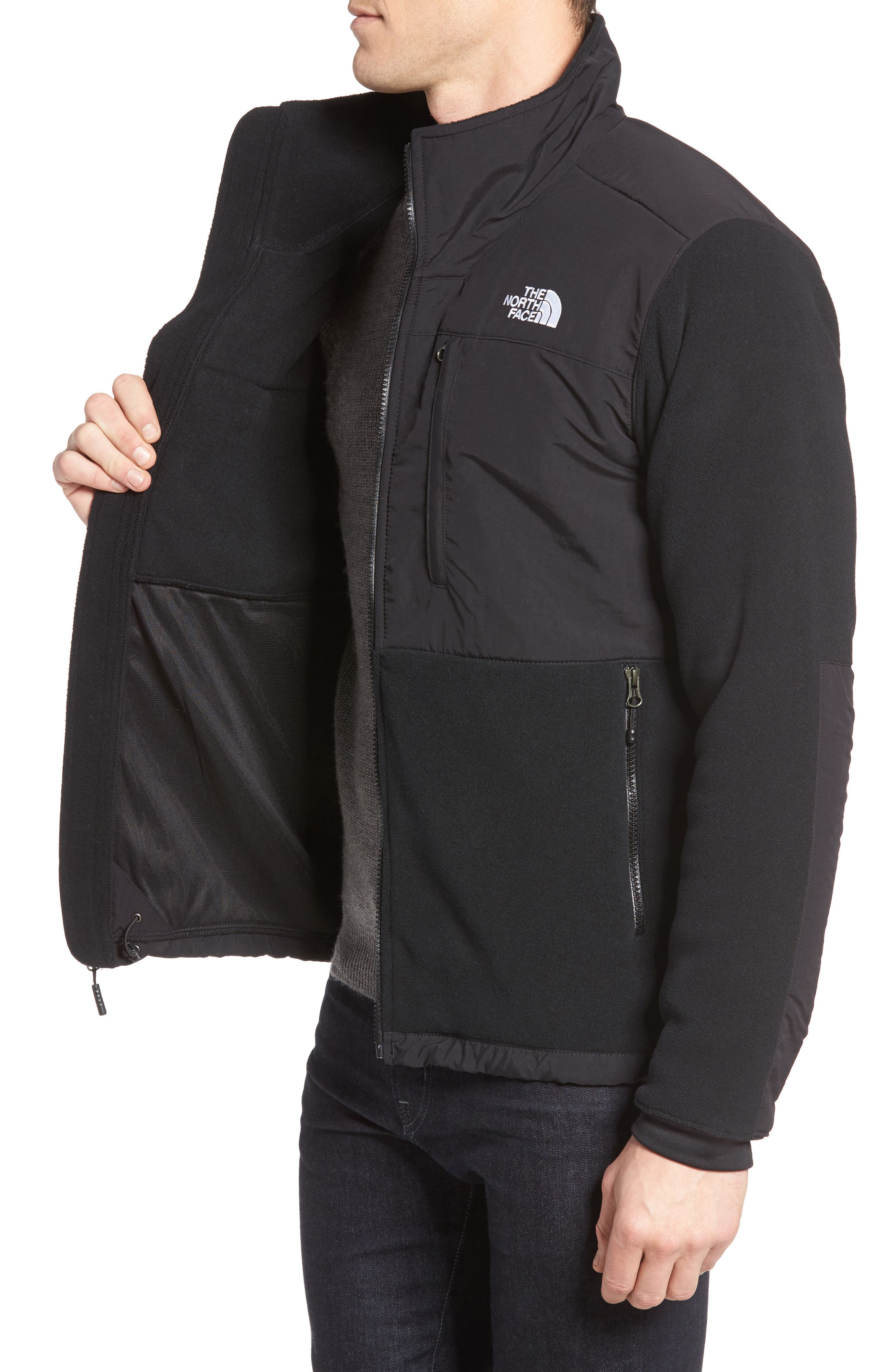 Denali 2 Recycled Fleece Jacket,                             Alternate thumbnail 4, color,                             001