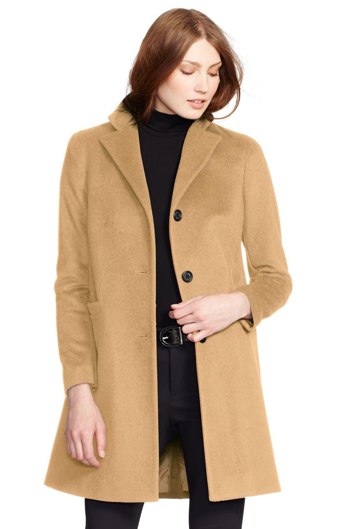 Wool Blend Reefer Coat,                             Main thumbnail 17, color,