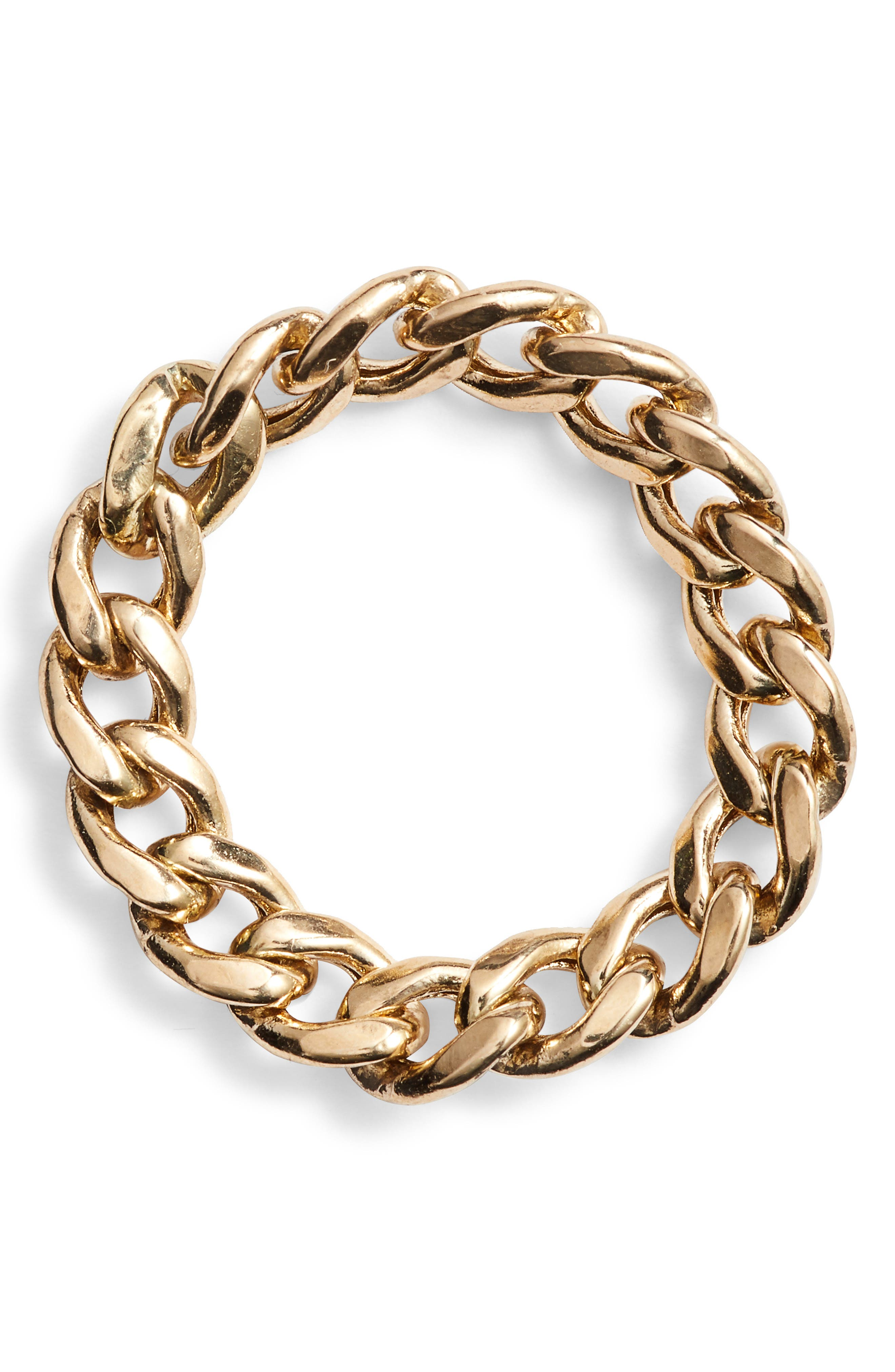 Curb Chain Ring,                             Main thumbnail 1, color,                             GOLD