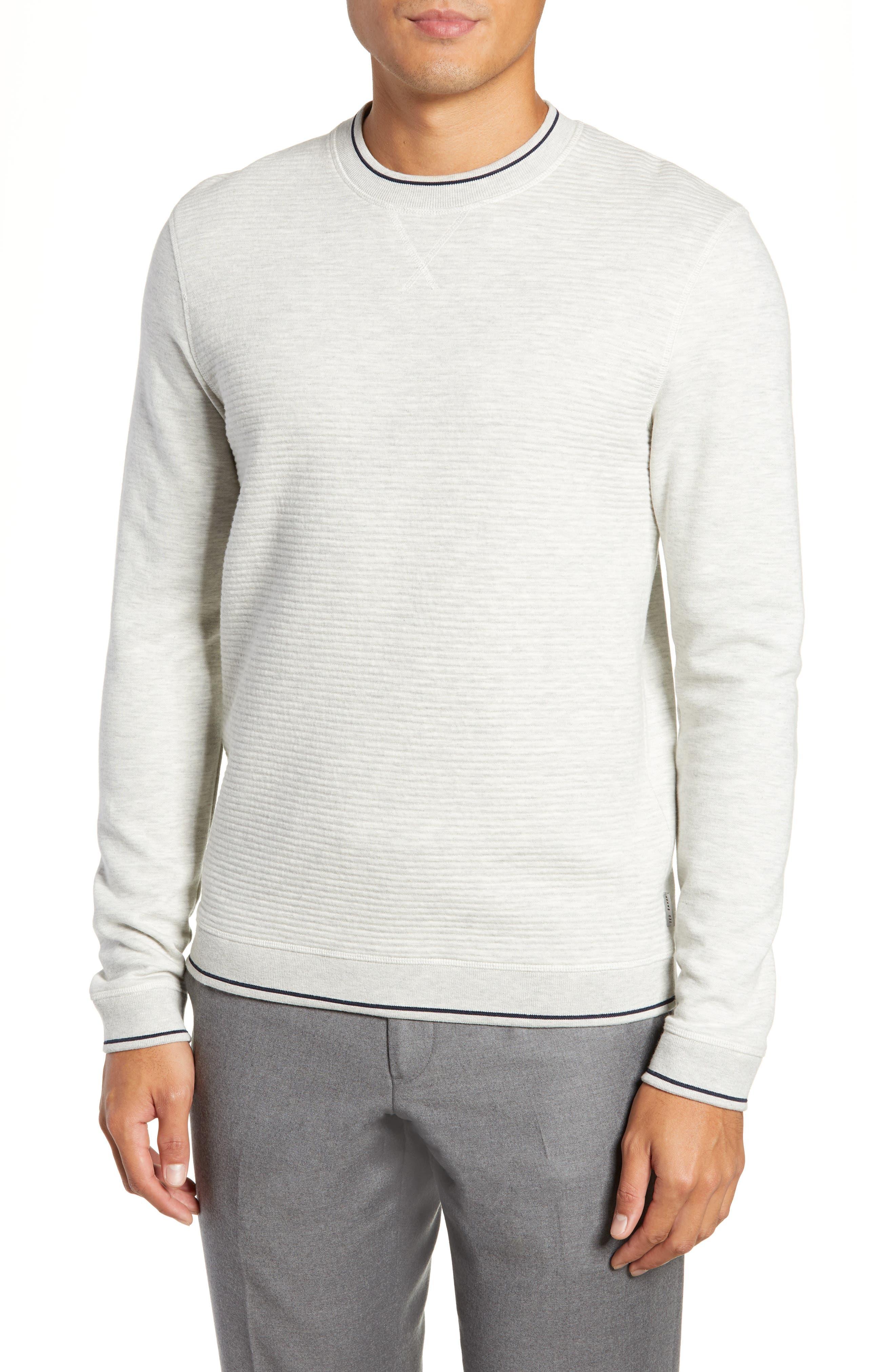 Magiics Slim Fit Quilted Sweatshirt,                         Main,                         color, LIGHT GREY