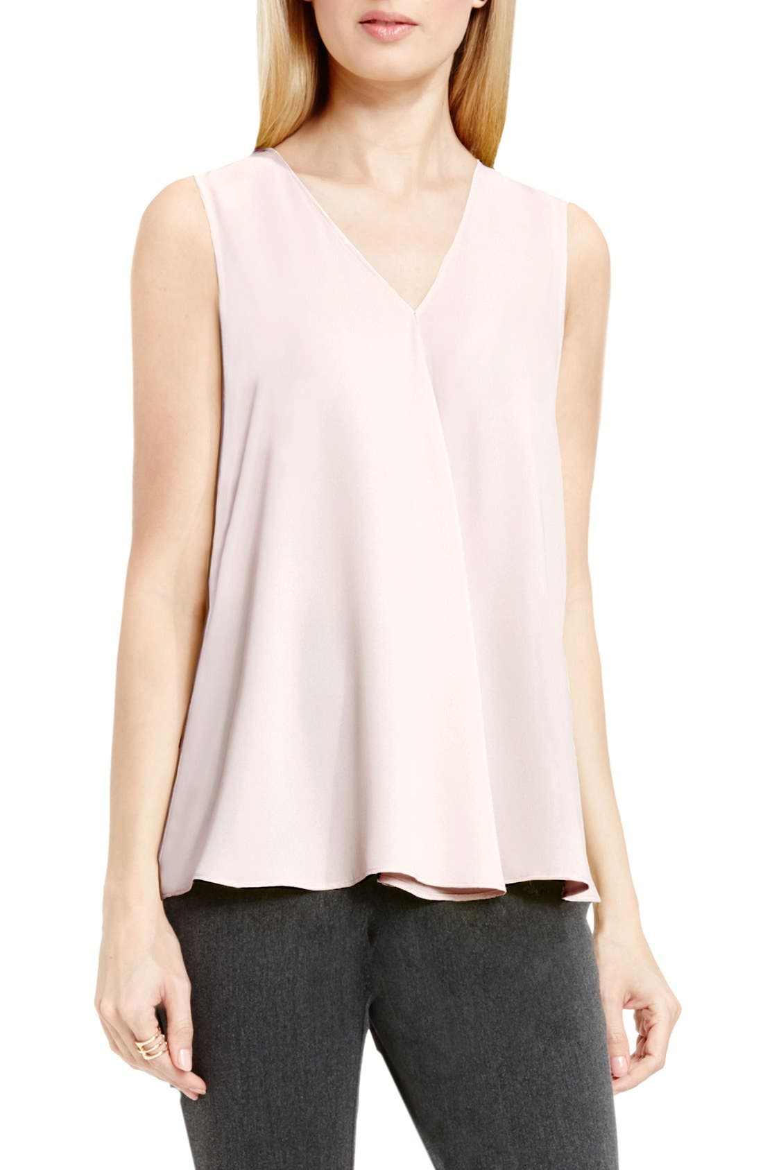 Drape Front V-Neck Sleeveless Blouse,                             Main thumbnail 24, color,