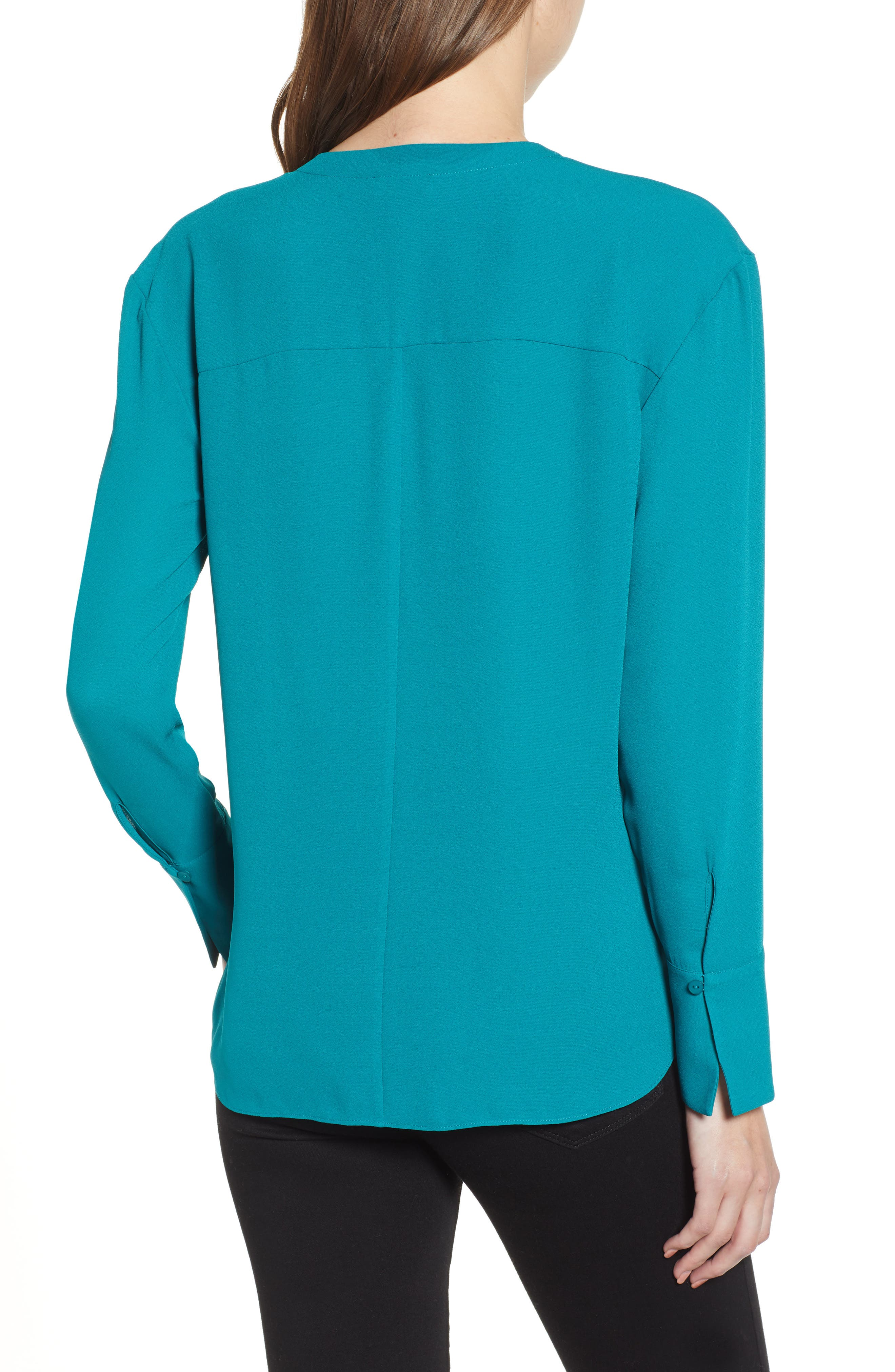 Drape Front Top,                             Alternate thumbnail 2, color,                             TEAL HARBOR