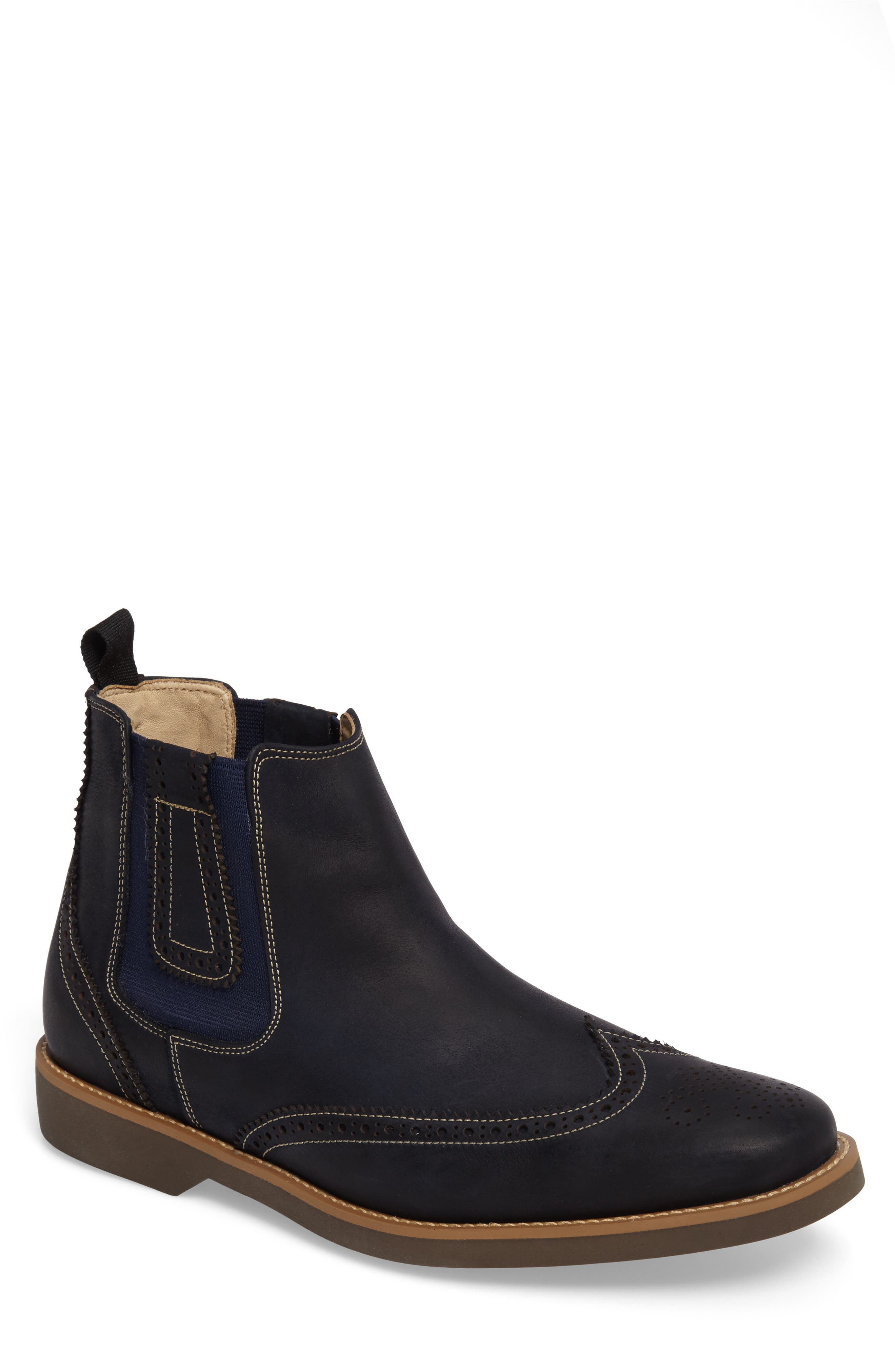 Gustavo Chelsea Boot,                             Main thumbnail 1, color,                             VINTAGE NAVY