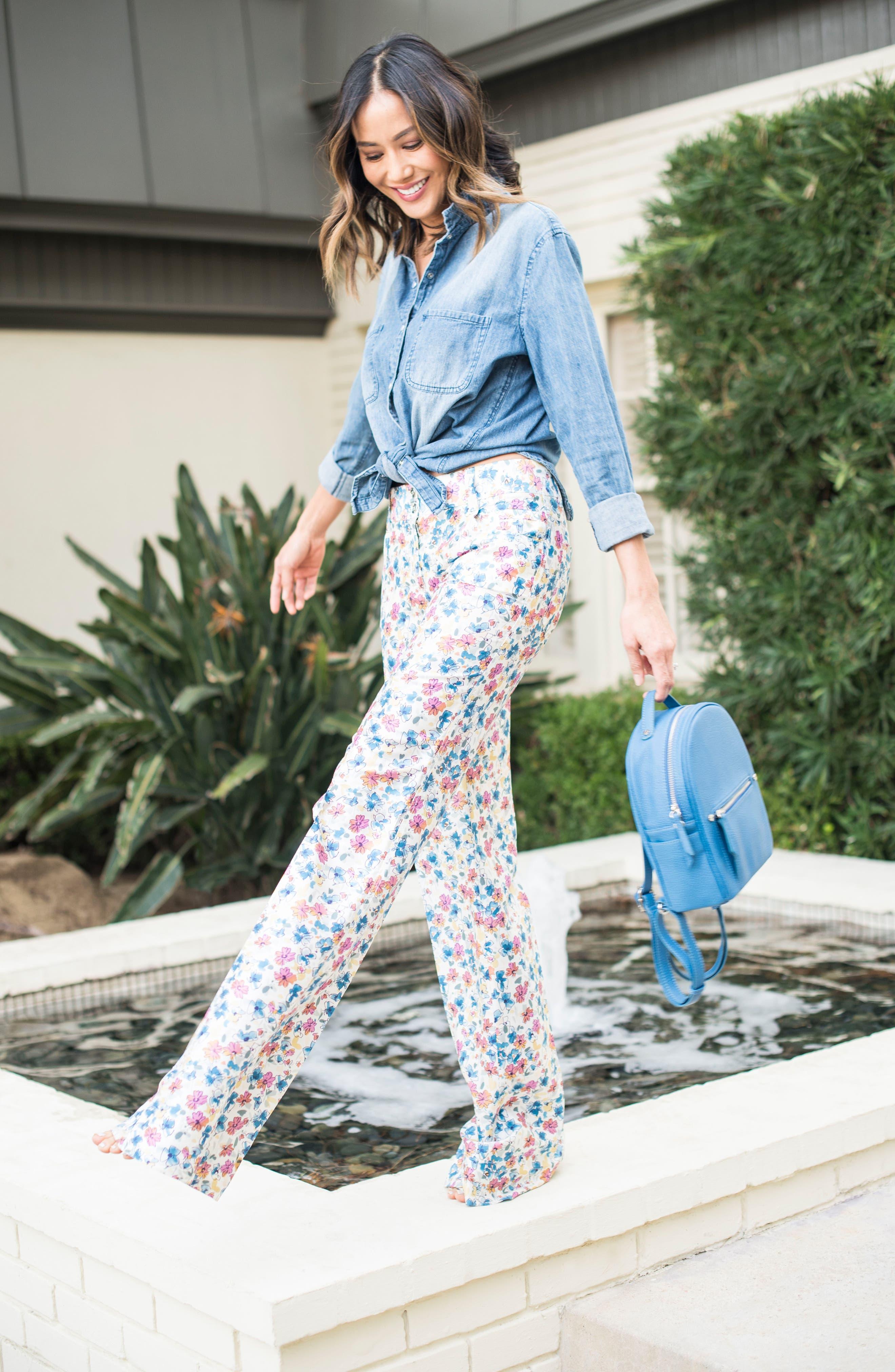 Mali + Lili Hannah Vegan Leather Backpack,                             Alternate thumbnail 7, color,                             FRENCH BLUE