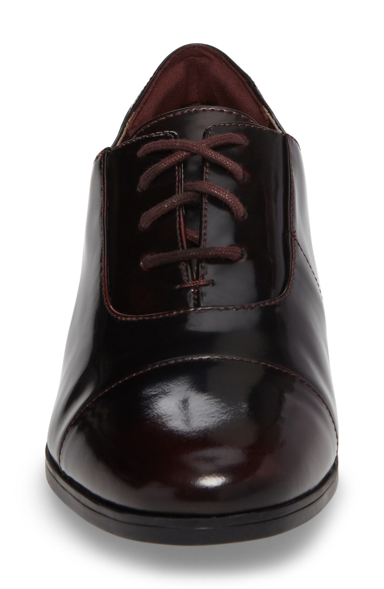 Tilmont Ivy Oxford,                             Alternate thumbnail 4, color,                             BURGUNDY LEATHER