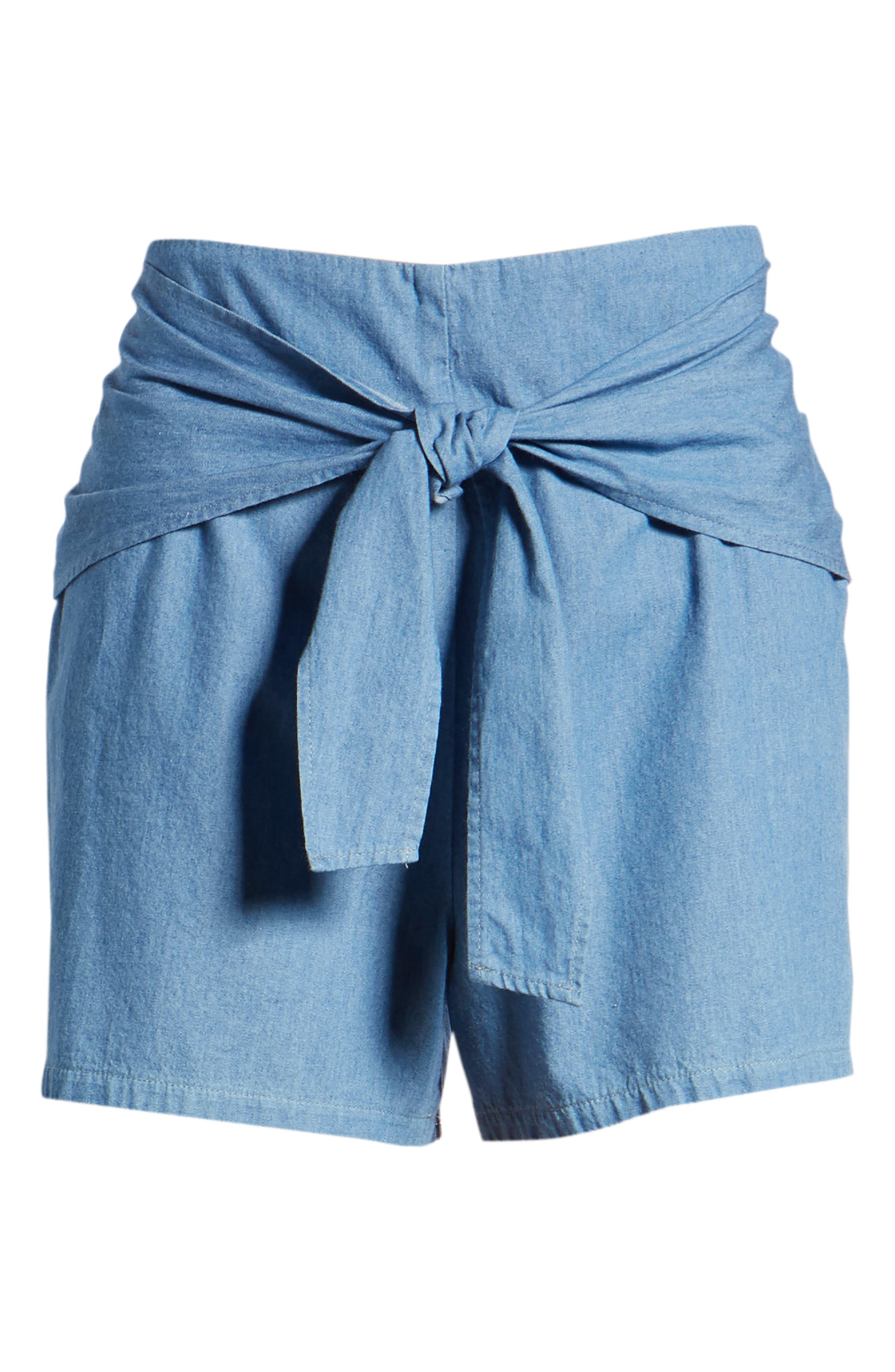 Tie Front Shorts,                             Alternate thumbnail 6, color,                             400
