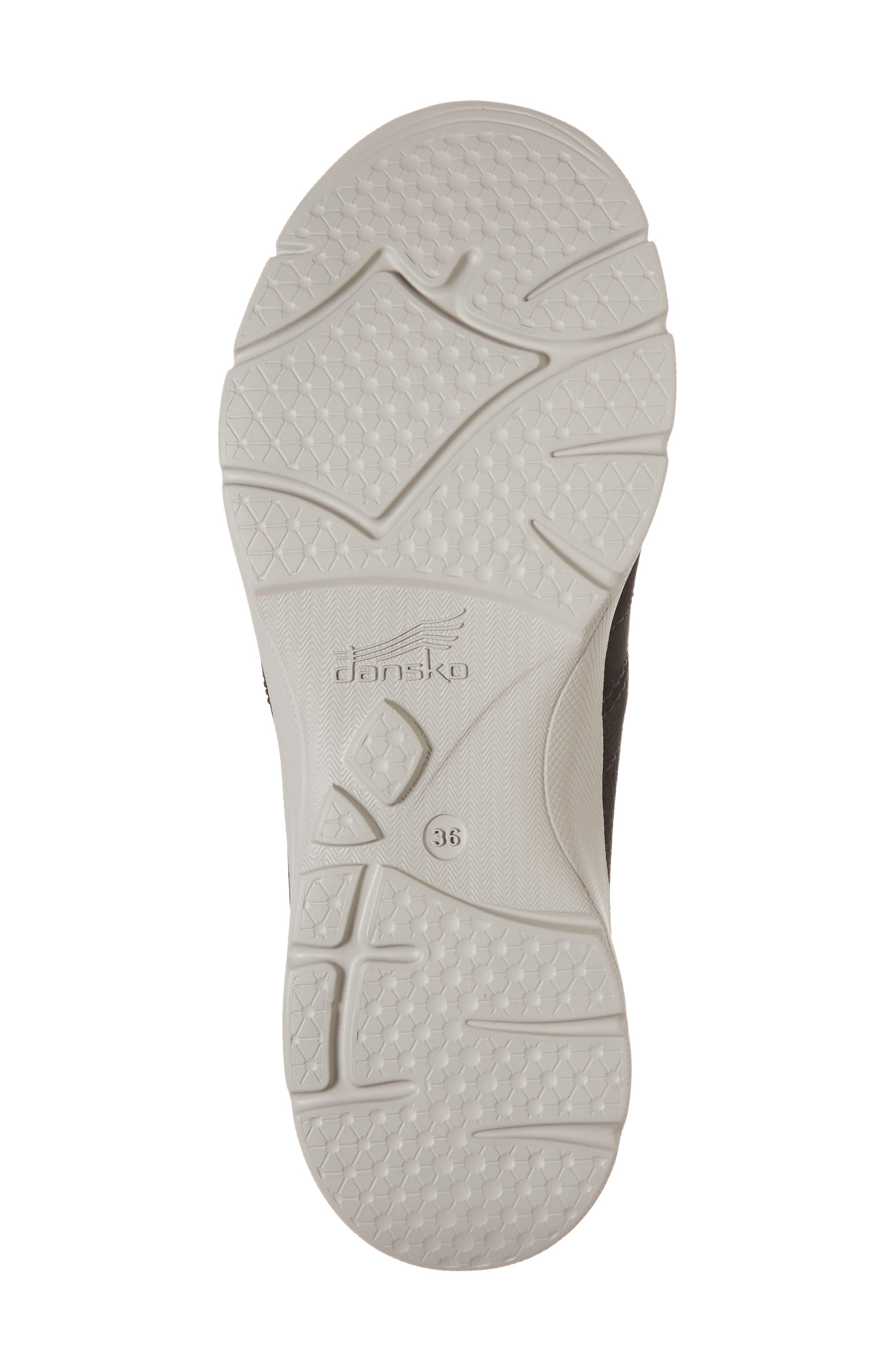 Alissa Sneaker,                             Alternate thumbnail 6, color,                             BLACK MILLED NUBUCK LEATHER