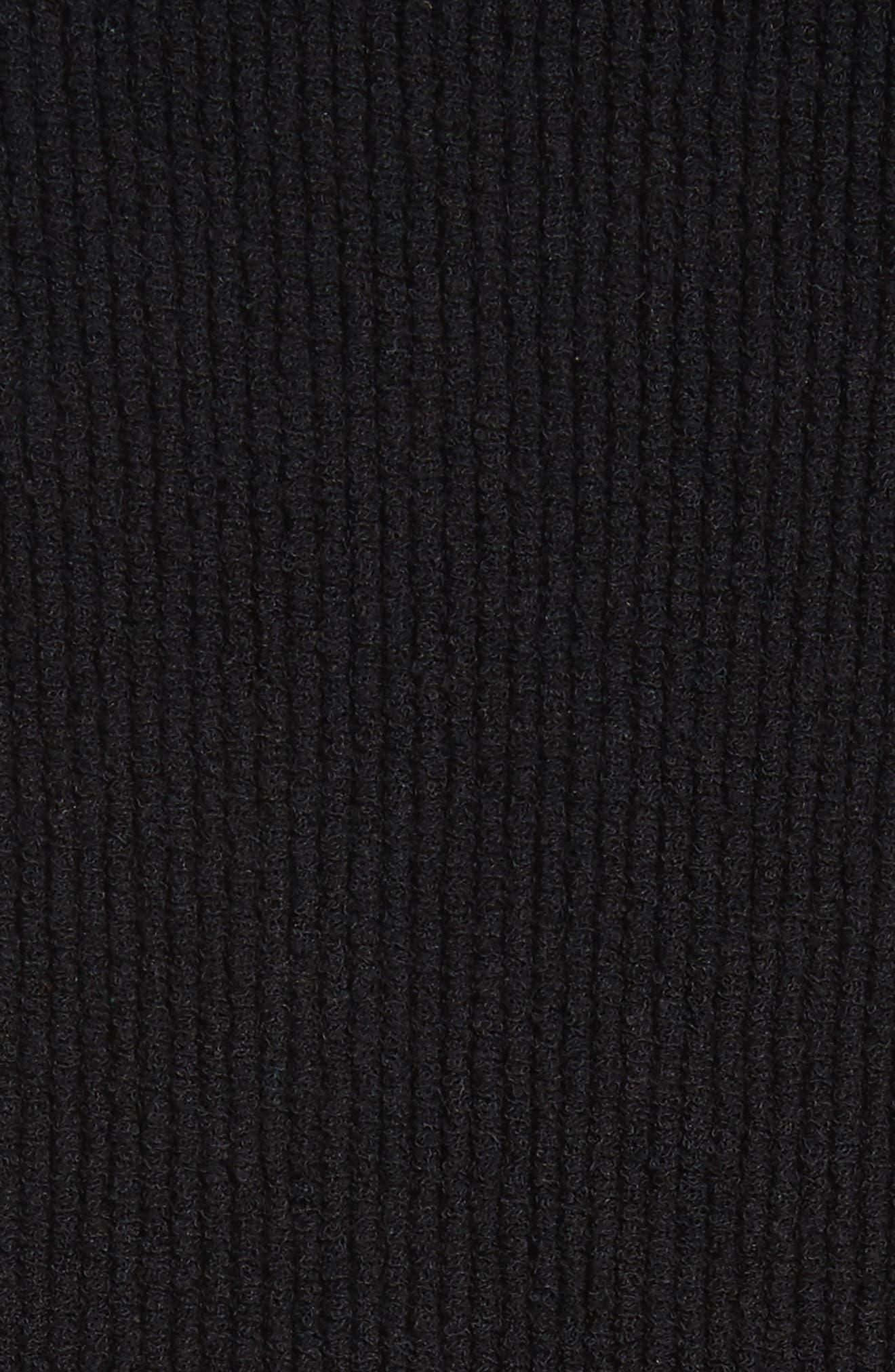 Ottoman Slouchy Tunic,                             Alternate thumbnail 5, color,                             BLACK