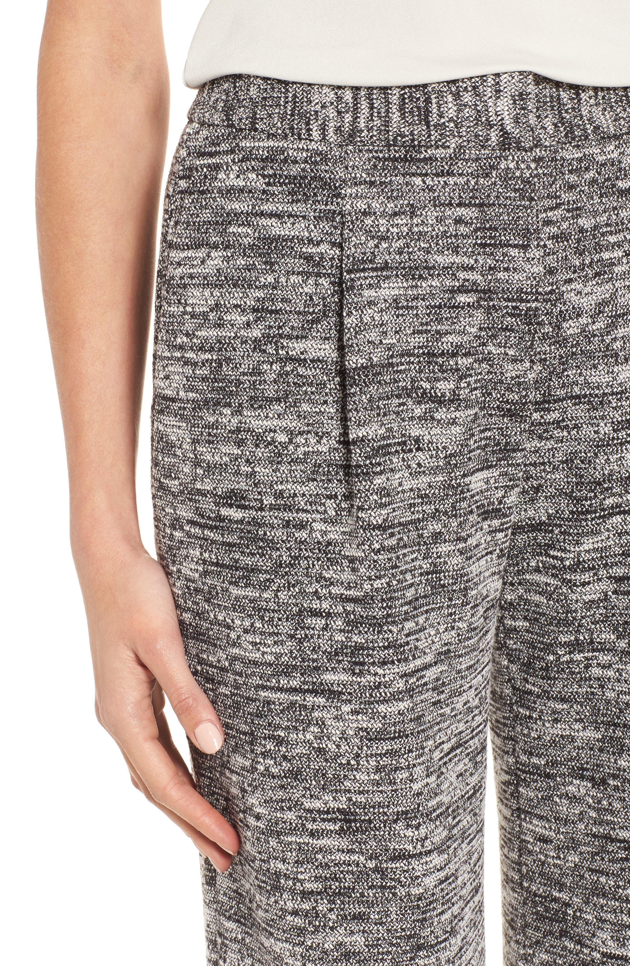 Wide Leg Tweed Pants,                             Alternate thumbnail 4, color,